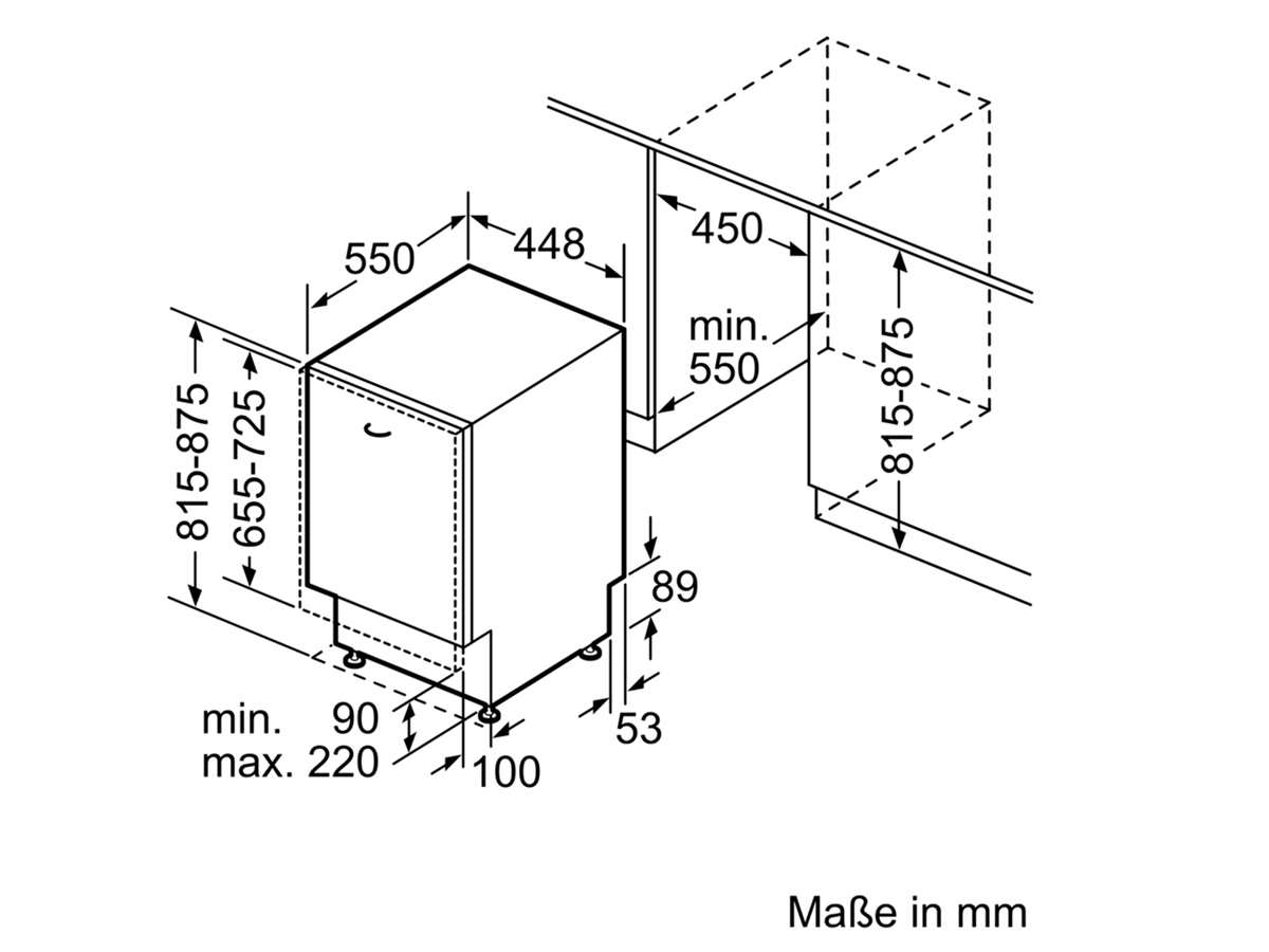 Bosch SPV6EMX11E Vollintegrierbarer Einbaugeschirrspüler