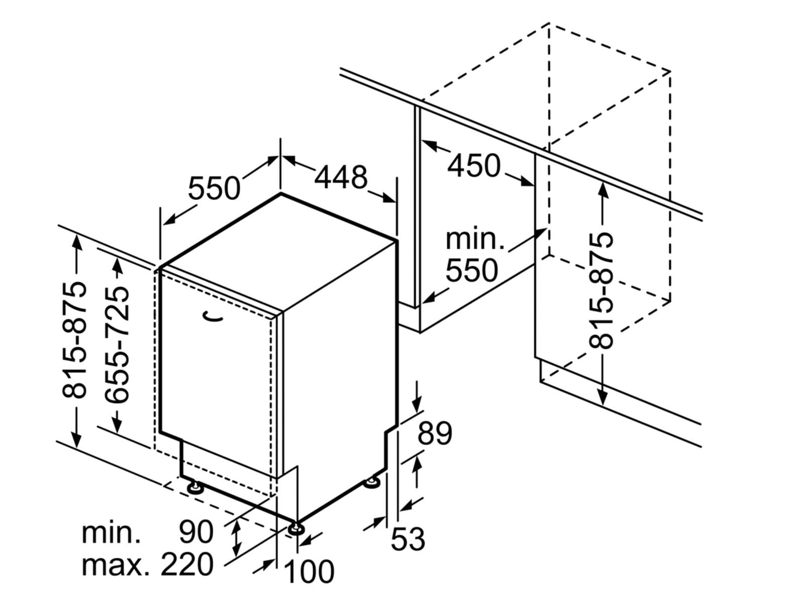 Bosch SPV6ZMX23E Vollintegrierbarer Einbaugeschirrspüler