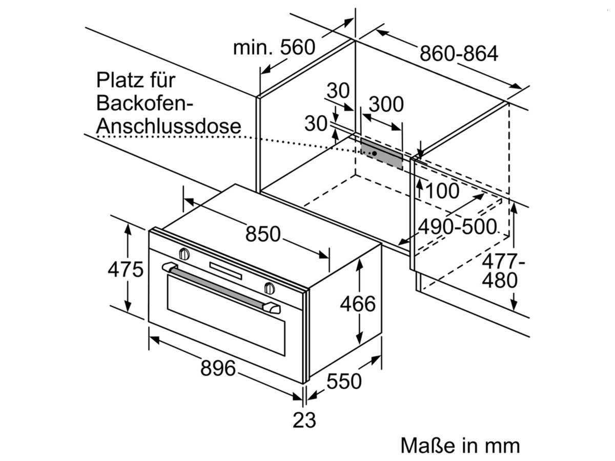 Bosch VBC5580S0 Backofen Edelstahl
