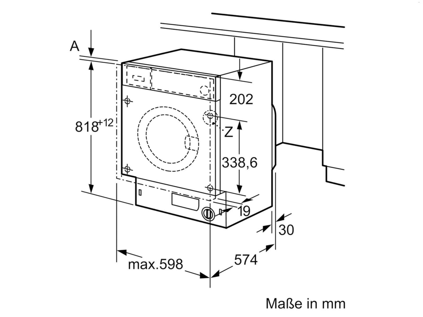 Bosch WIW28440 Einbauwaschmaschine
