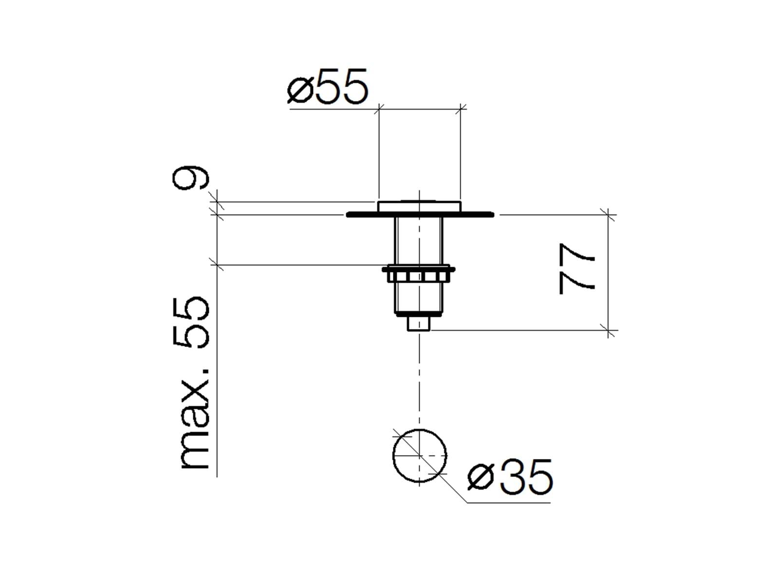 Dornbracht AIR SWITCH Bedienknopf Dark Platinum Matt 10713970-99