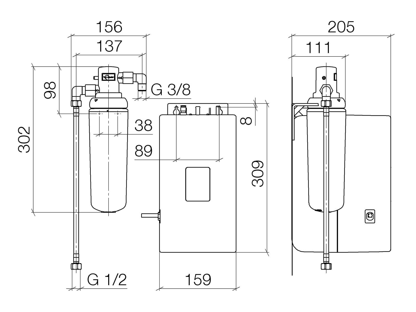 Dornbracht Heißwassertank 12 892 970 90 inkl. Filter