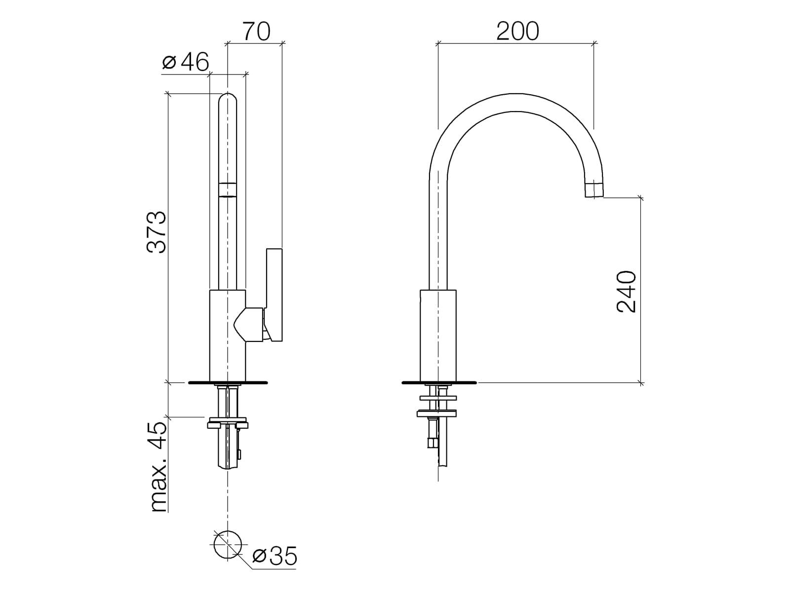 Dornbracht Tara Ultra Platin Matt 33 800 875-06 Hochdruckarmatur