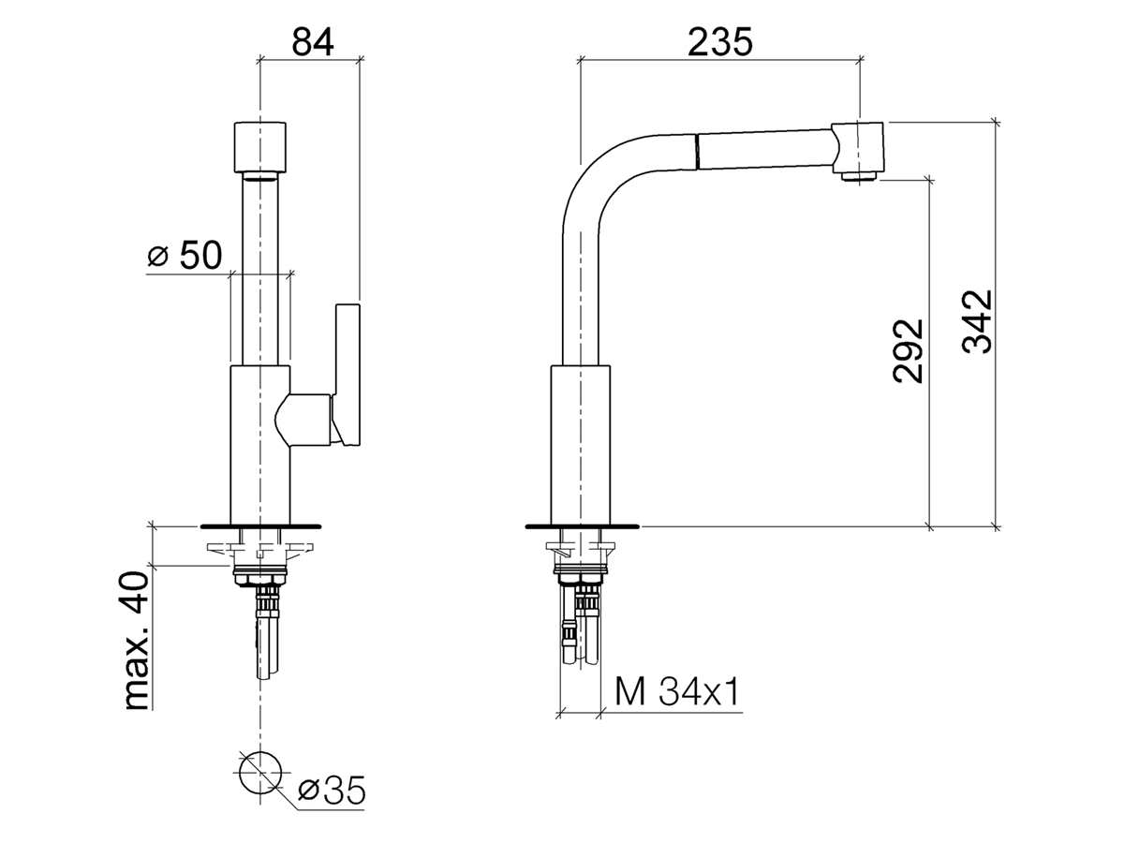 Dornbracht Elio Pull-Out Chrom 33 870 790-00 Hochdruckarmatur