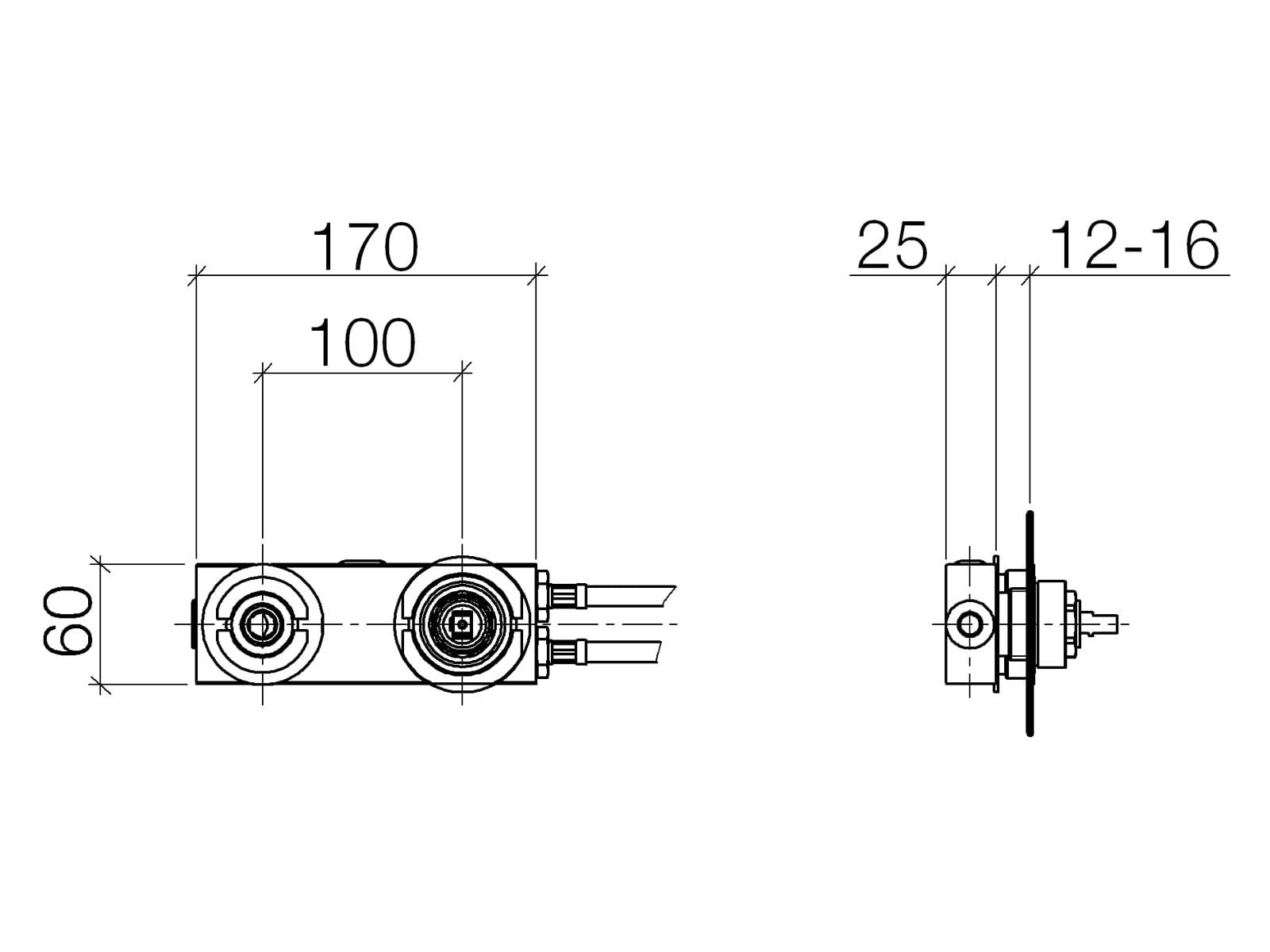 Dornbracht Wand-Einhandbatterie 35 816 970 90 Mischer rechts