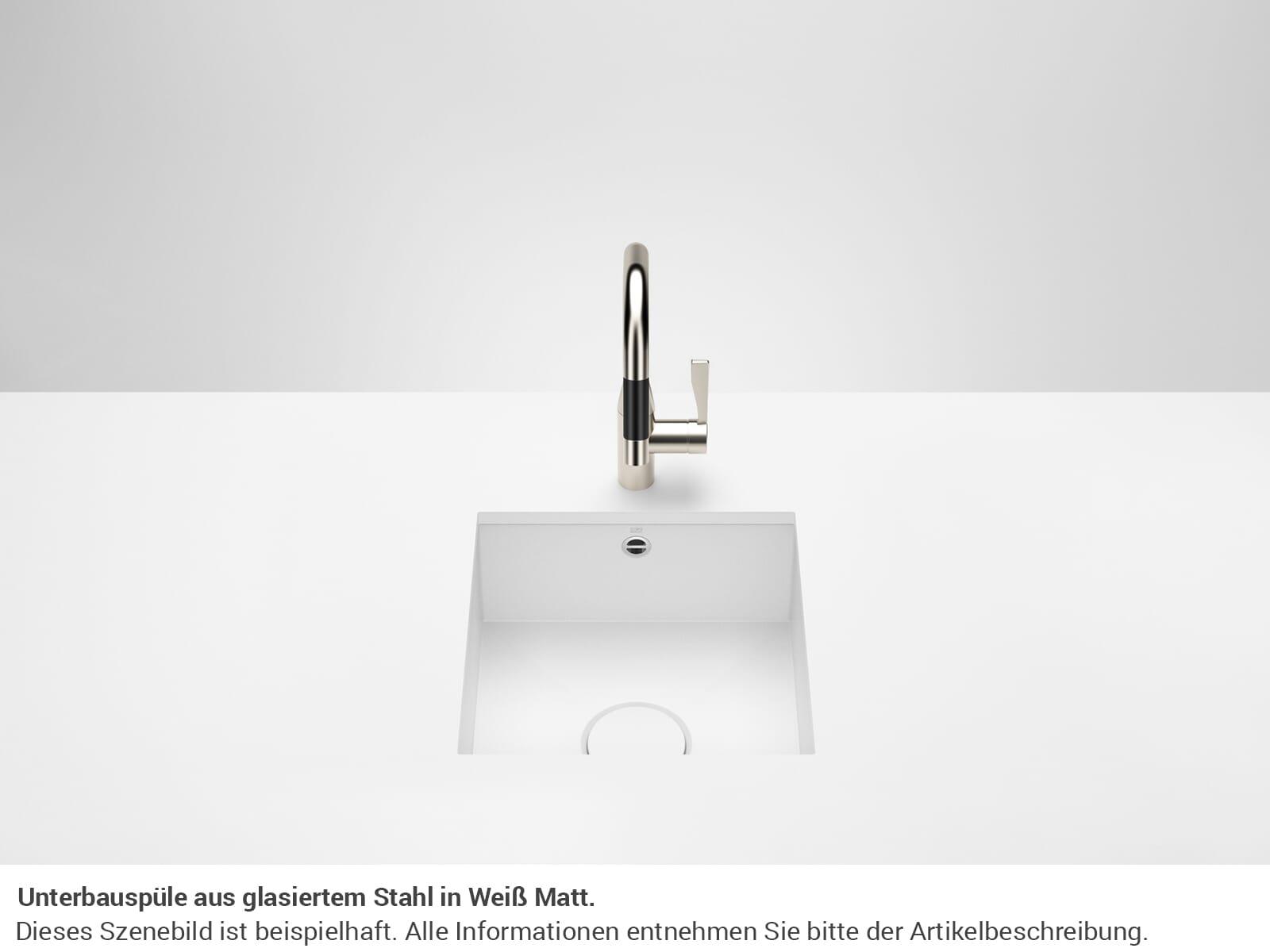 Dornbracht Unterbau-Spüle Glasierter Stahl Weiß Matt 38400002-62