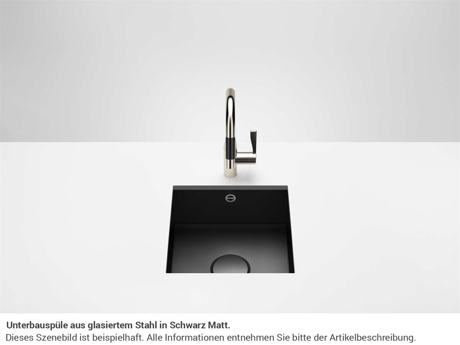 Dornbracht Unterbau-Spüle Glasierter Stahl Schwarz  Matt 38400002-71
