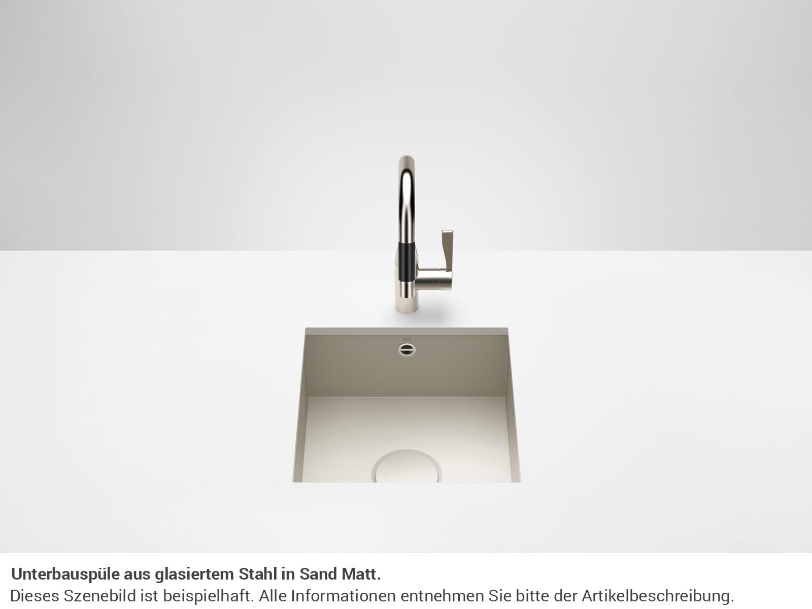 Dornbracht Unterbau-Spüle Glasierter Stahl Sand Matt 38400002-72