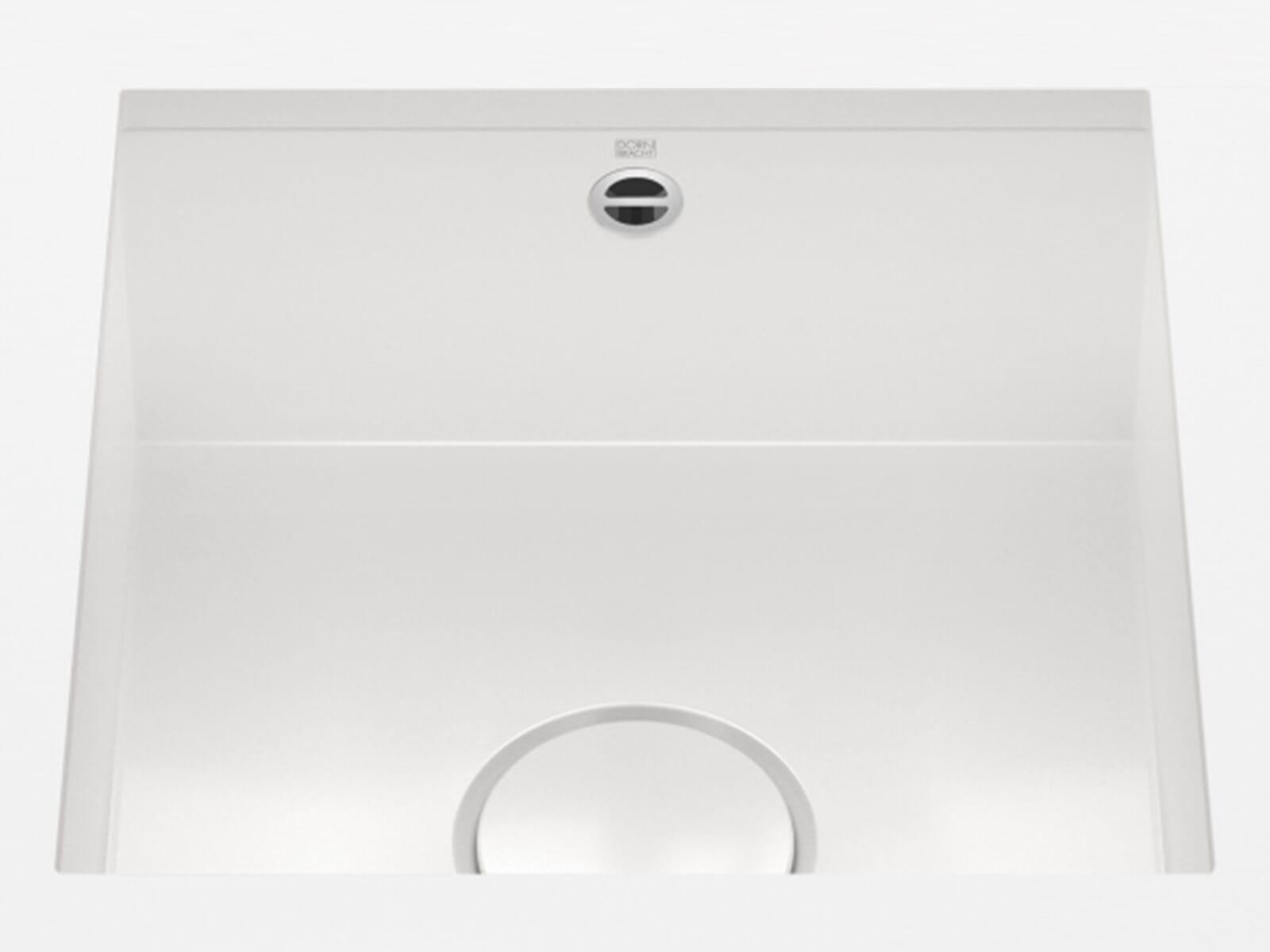 Dornbracht Unterbau-Spüle Glasierter Stahl Weiß Glänzend 38400002-73
