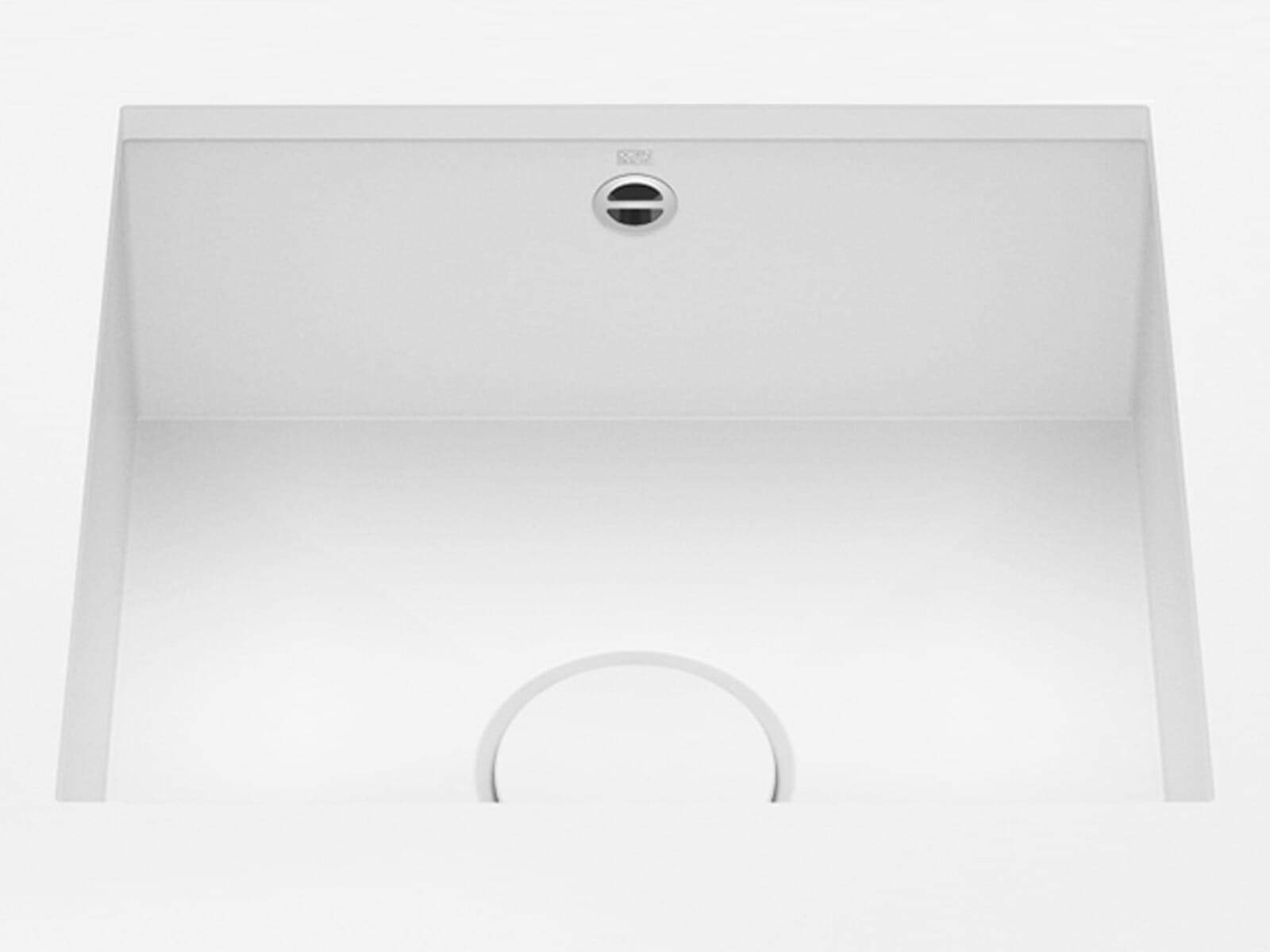 Dornbracht Unterbau-Spüle Glasierter Stahl Weiß Matt 38450002-62