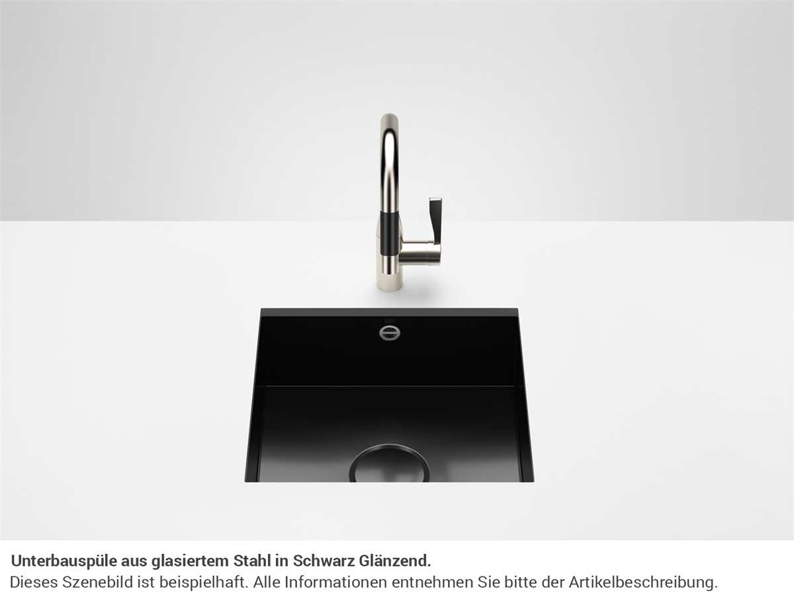Dornbracht Unterbau-Spüle Glasierter Stahl Schwarz Glänzend 38450002-76