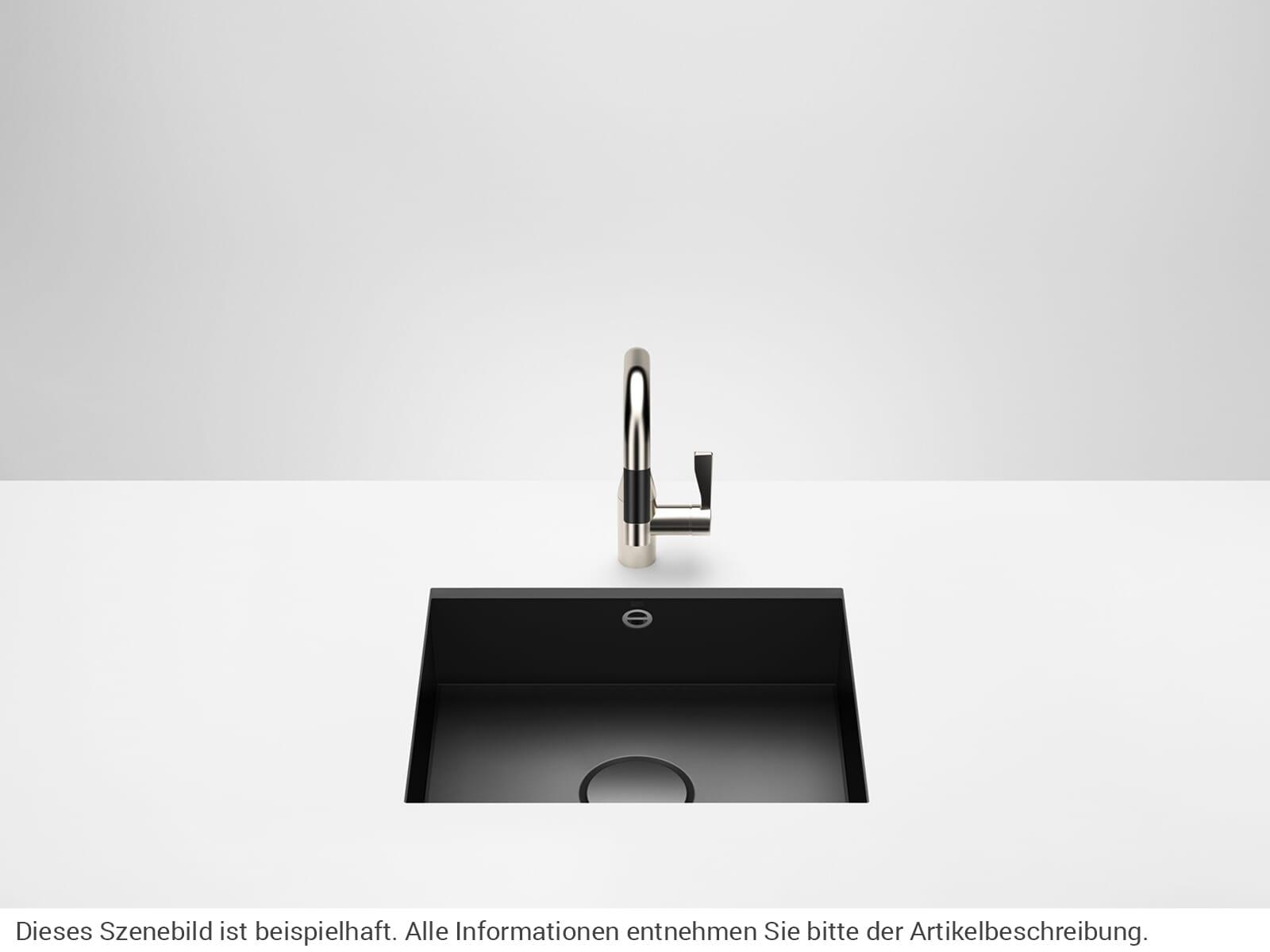 Dornbracht Unterbau-Spüle Glasierter Stahl Schwarz Matt 38500002-71