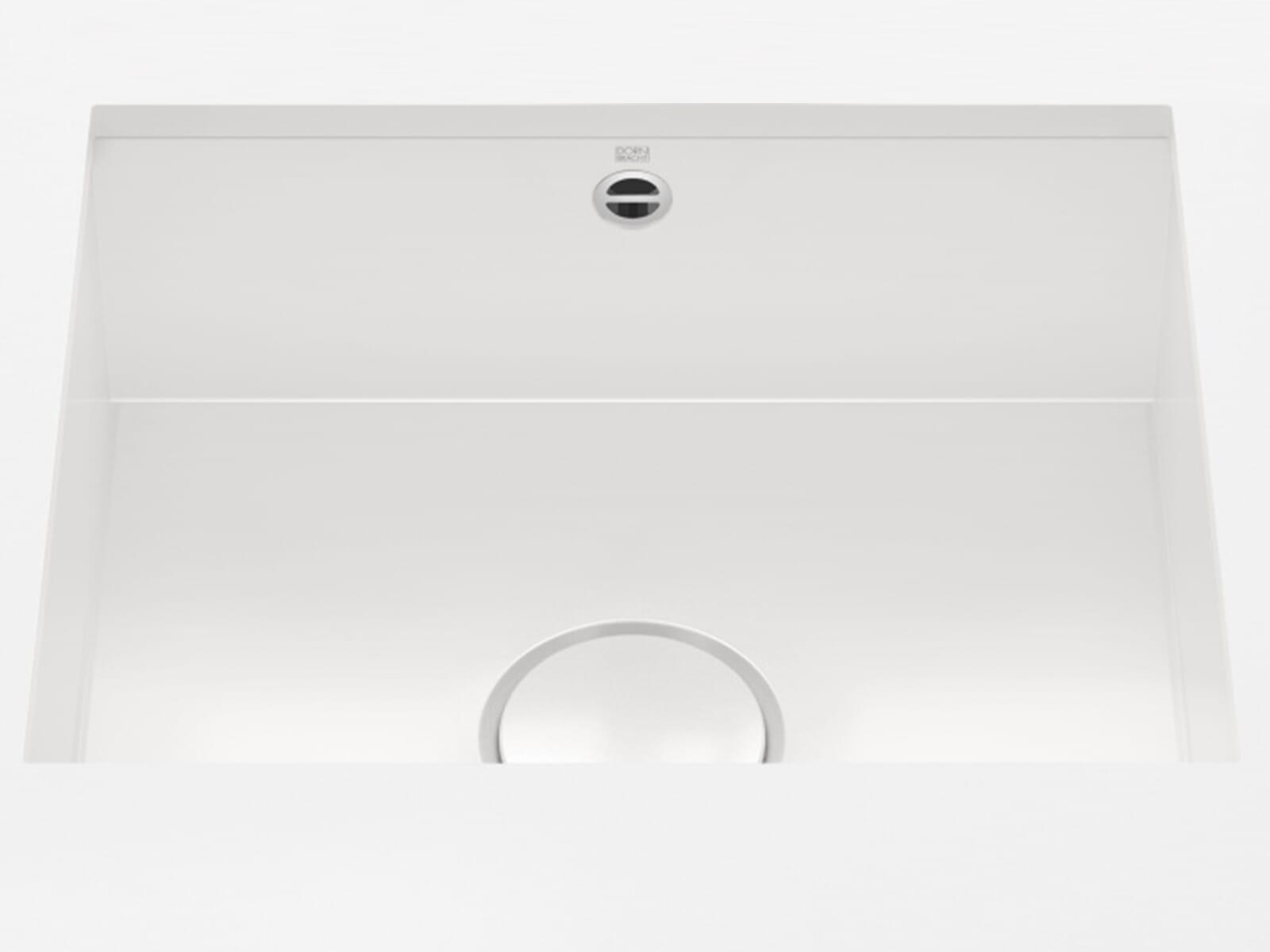 Dornbracht Unterbau-Spüle Glasierter Stahl Weiß Glänzend 38500002-73