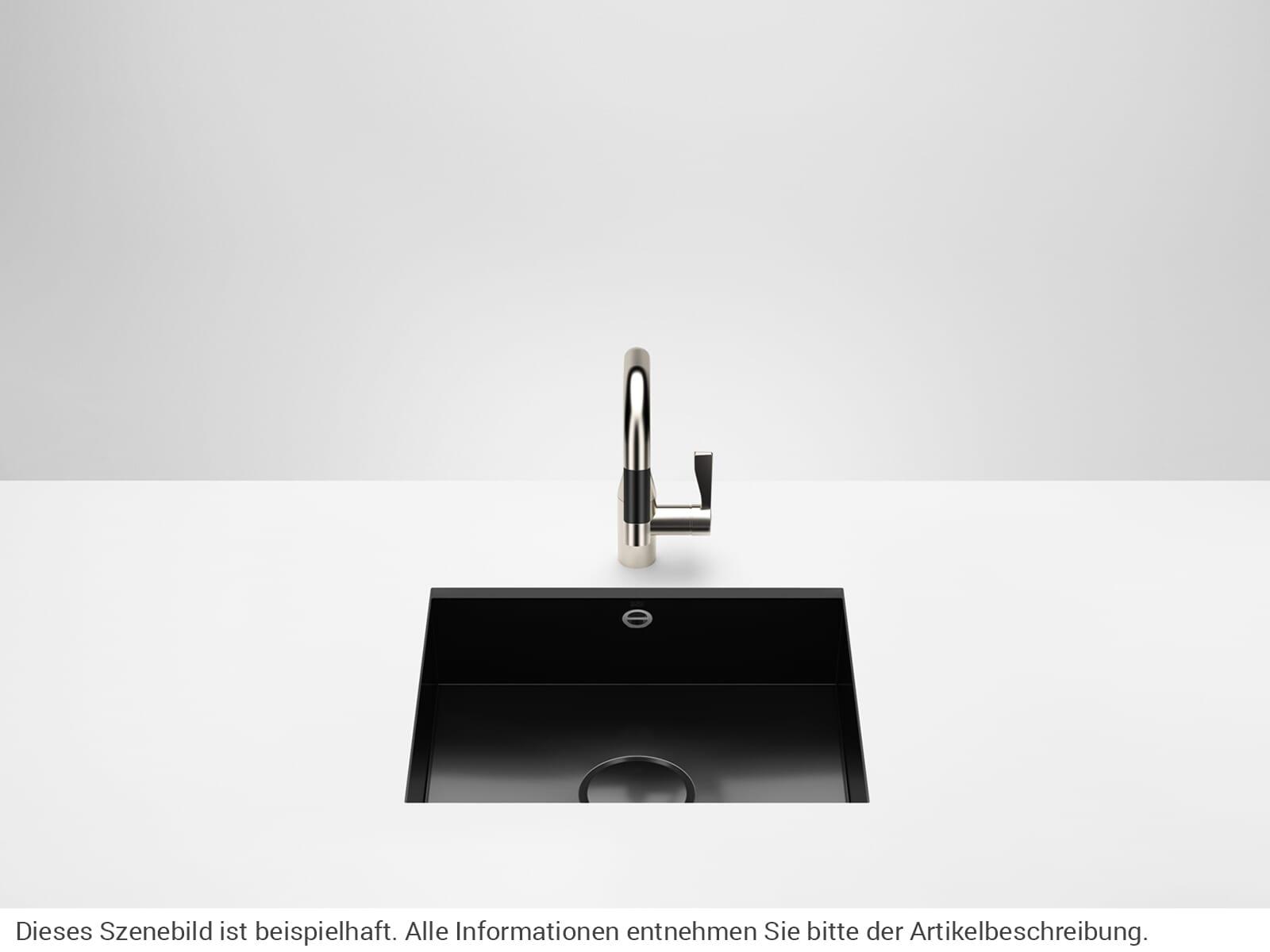 Dornbracht Unterbau-Spüle Glasierter Stahl Schwarz Glänzend 38500002-76