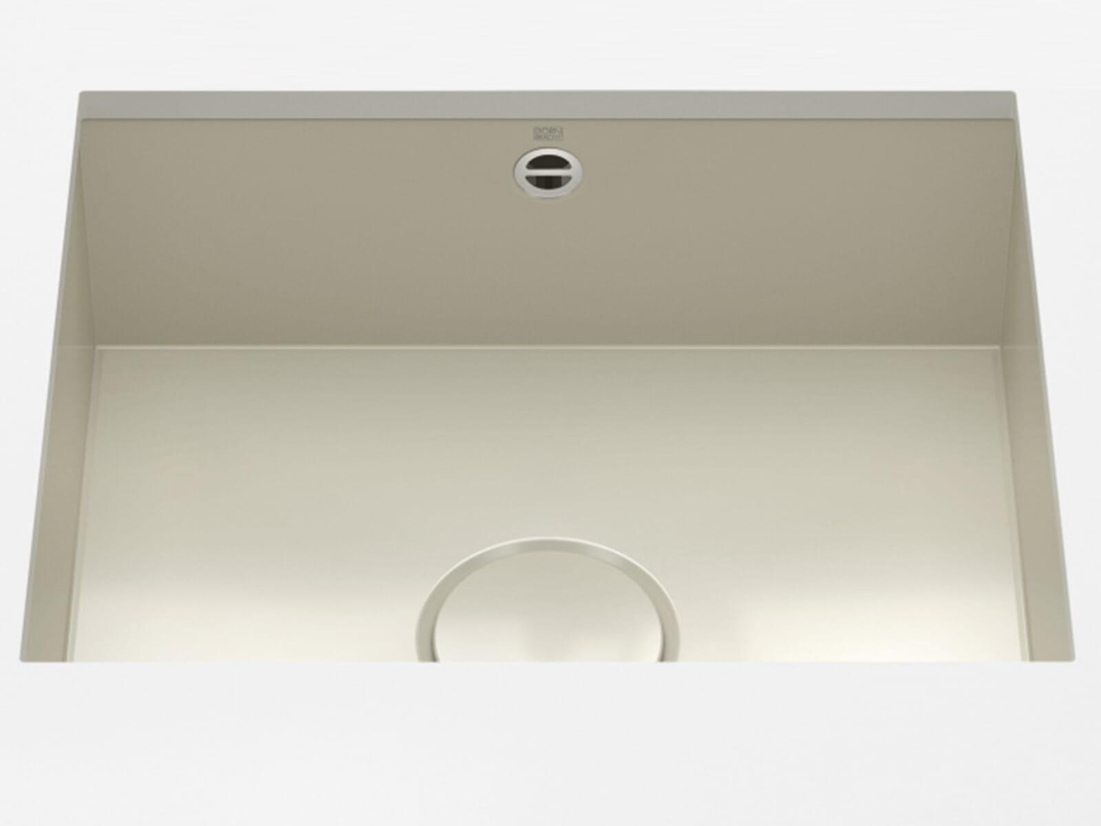 Dornbracht Unterbau-Spüle Glasierter Stahl Sand Glänzend 38500002-78
