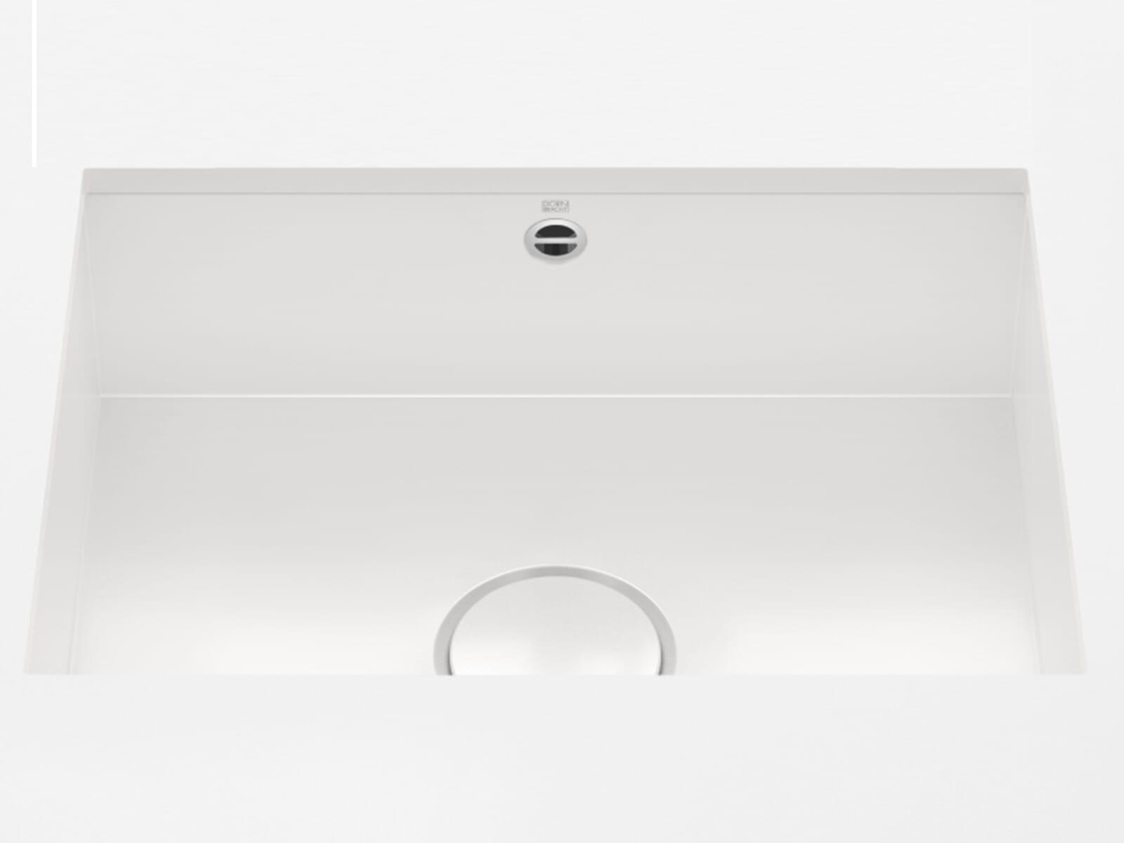 Dornbracht Unterbau-Spüle Glasierter Stahl Weiß Glänzend 38550002-73