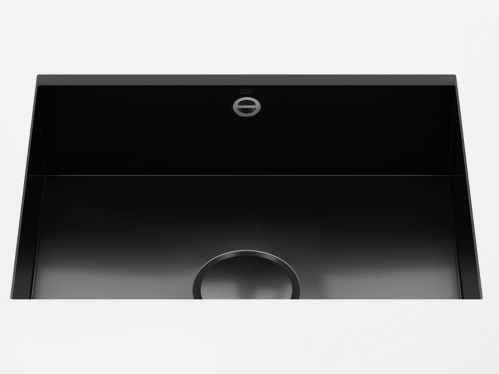 Dornbracht Unterbau-Spüle Glasierter Stahl Schwarz Glänzend 38550002-76