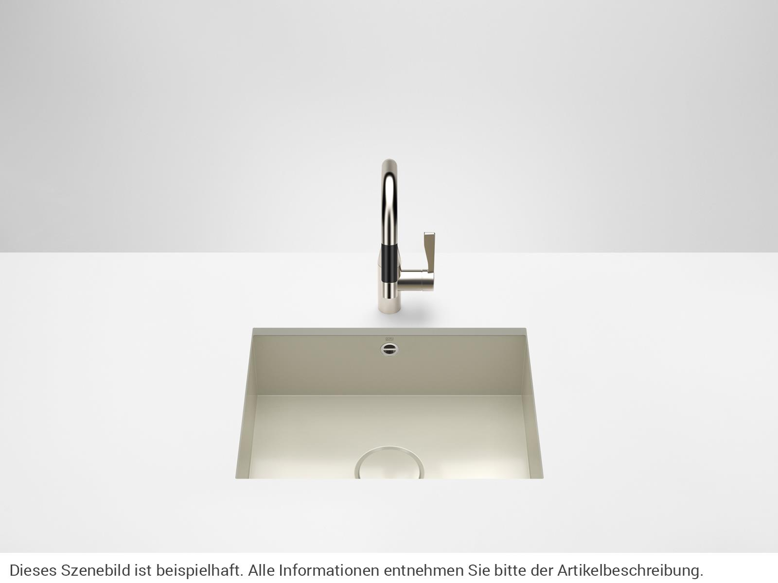 Dornbracht Unterbau-Spüle Glasierter Stahl Sand Glänzend 38550002-78