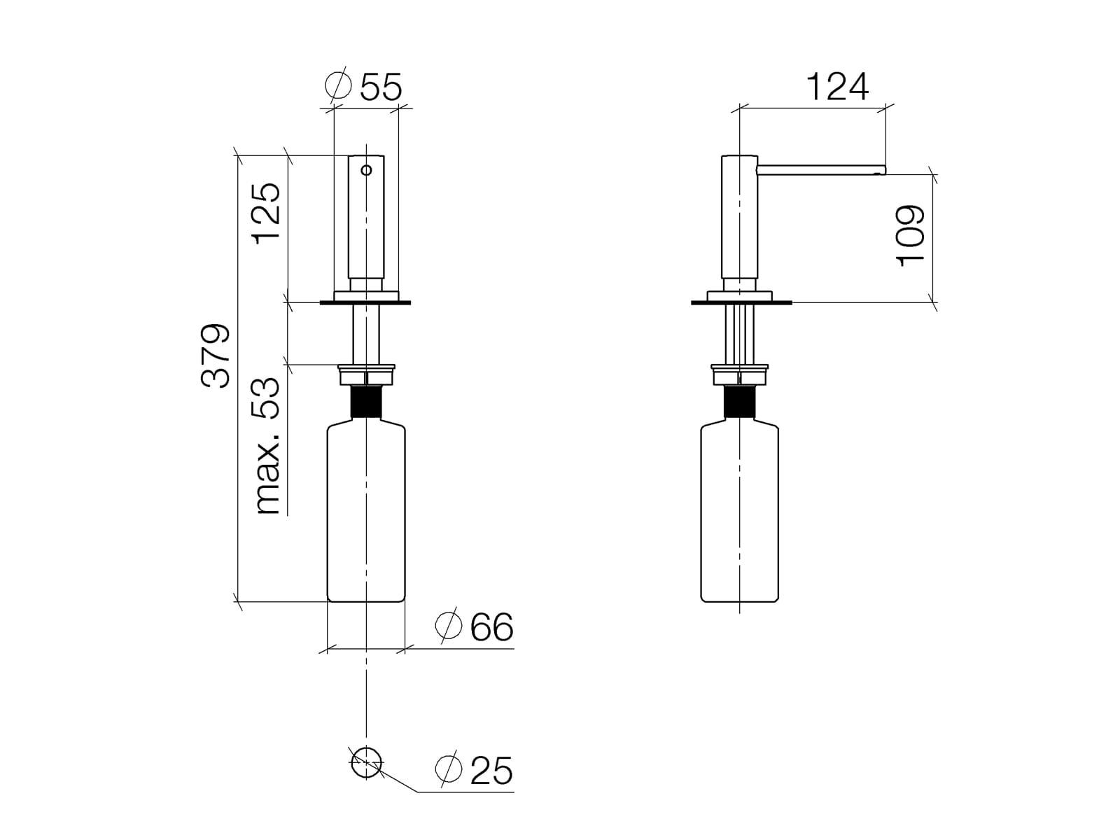 Dornbracht Einbau-Spülmittelspender Chrom 82 434 970-00