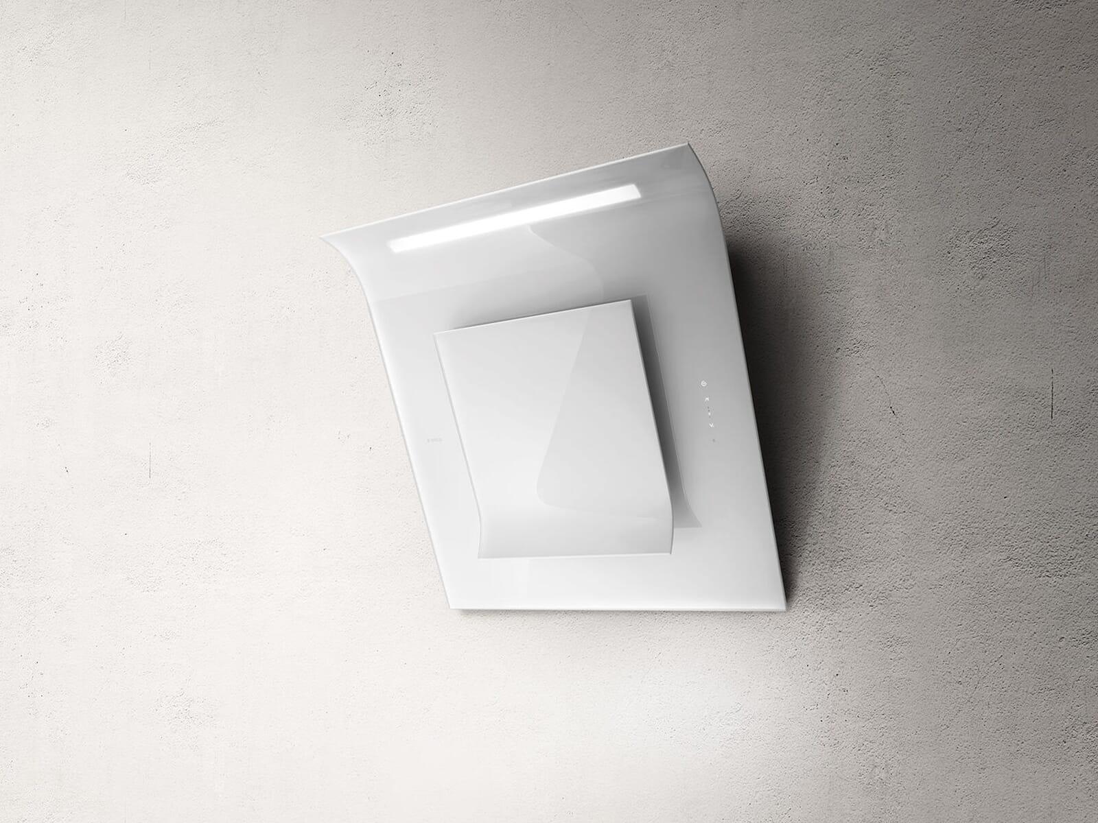 Elica Sinfonia PRF0010418B Kopffreihaube Weißes Glas