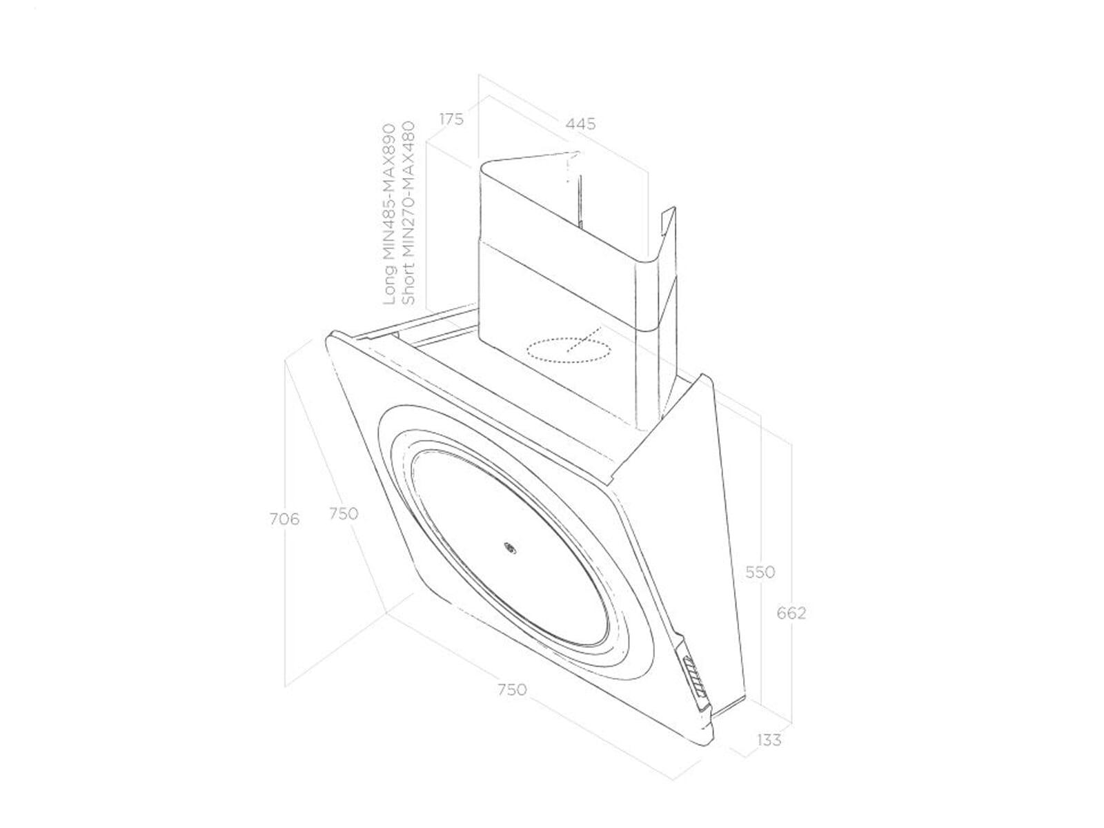 Elica Loop PRF0147270 Kopffreihaube Weiß