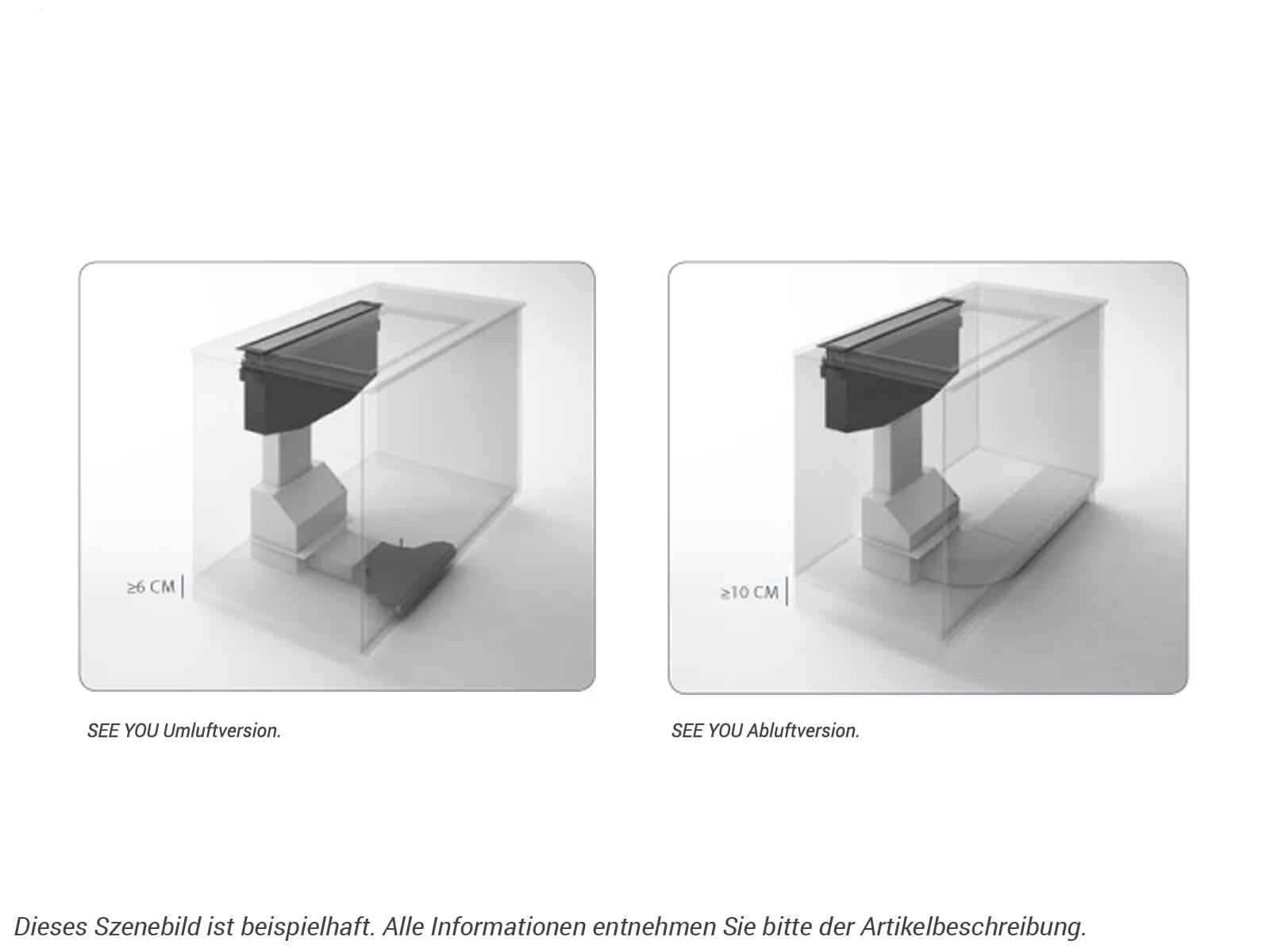 Elica See You PRF0120984 Tischhaube Schwarz/Klares Glas