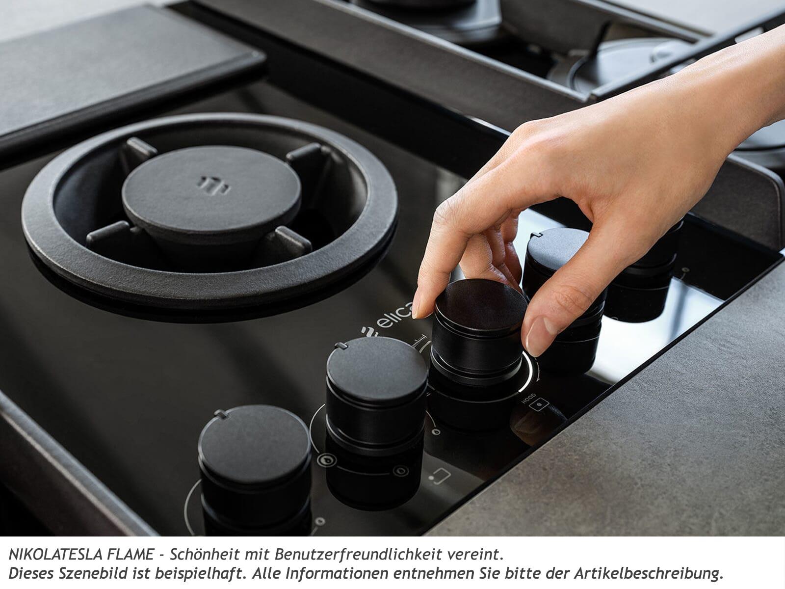 Elica NikolaTesla Flame PRF0147742A Gas-Kochfeldabzug Grau/Schwarz
