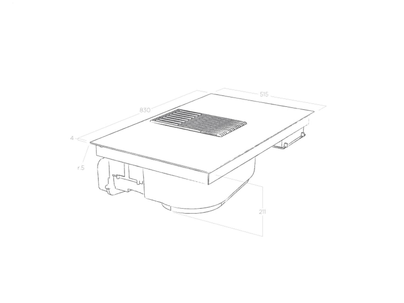 Elica NikolaTesla Libra PRF0147775A Induktionskochfeld-Dunstabzug-Kombination Weiß mit integrierter Waage