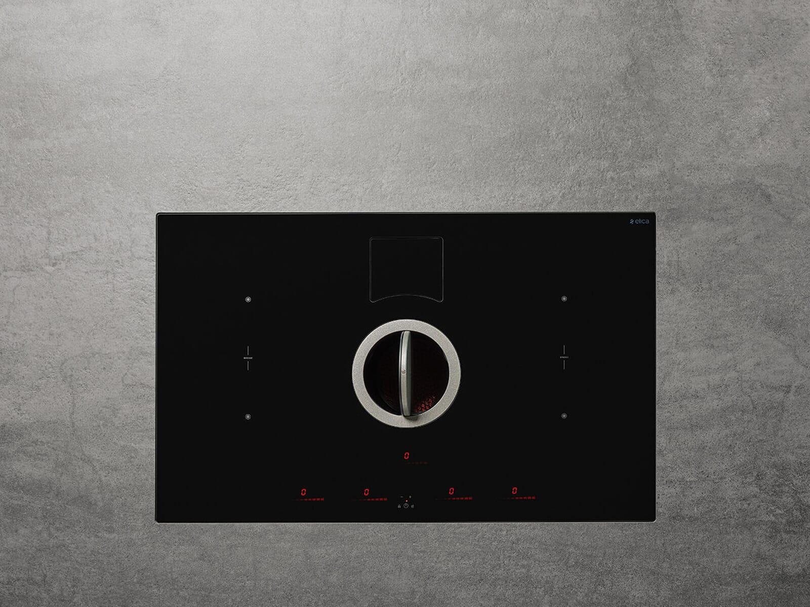 Elica NikolaTesla Switch PRF0146210A Induktionskochfeld-Dunstabzug-Kombination Schwarz
