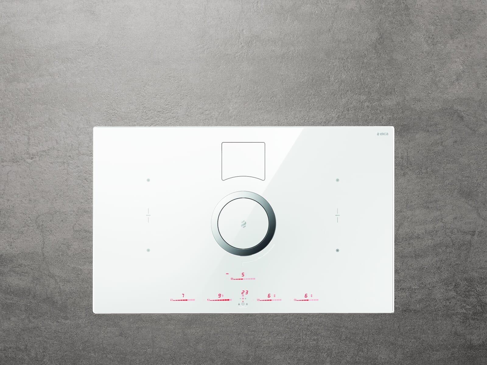 Elica NikolaTesla Switch PRF0146213A Induktions-Kochfeldabzug Weiß