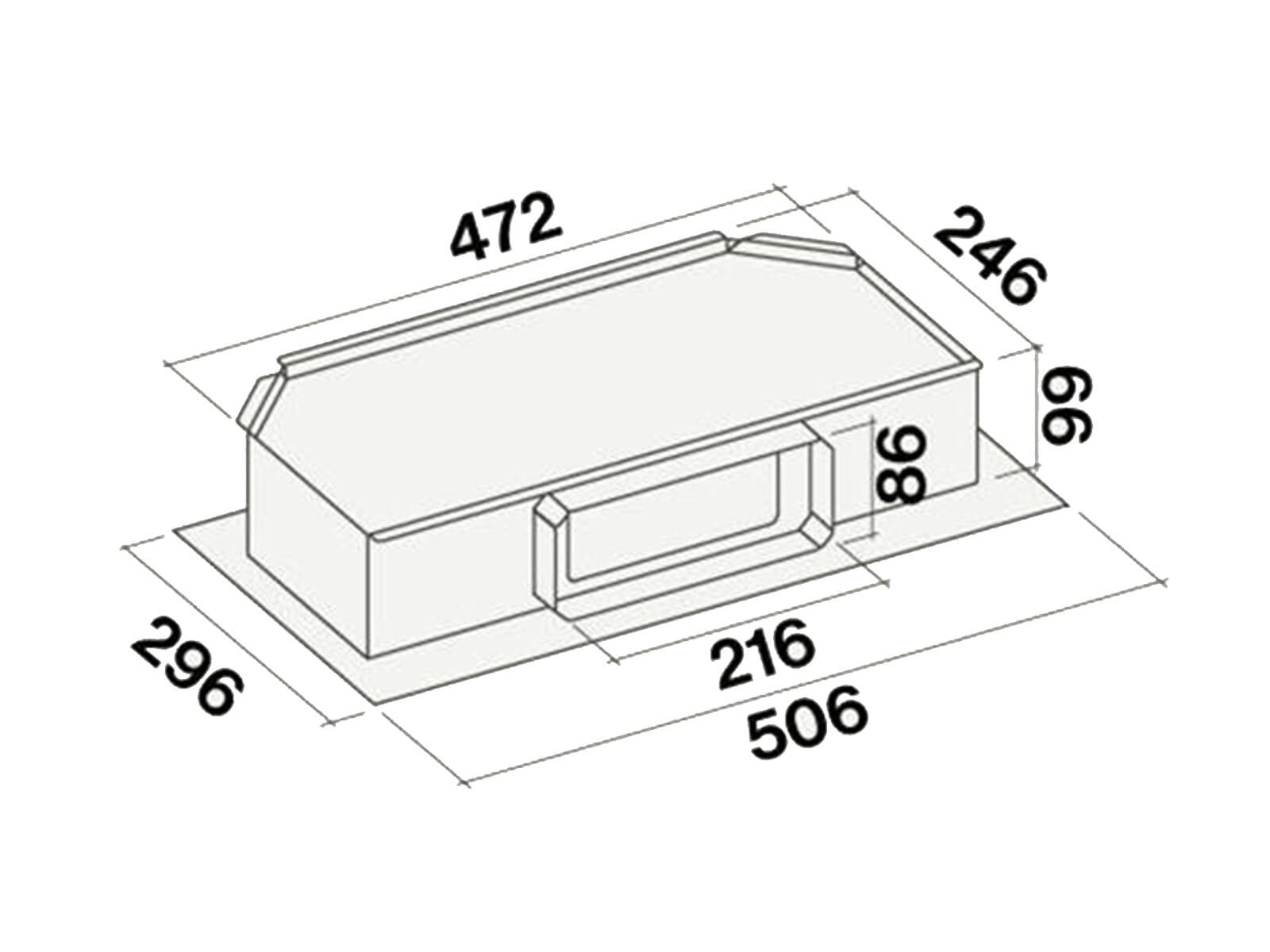 Falmec Downdraft Tischhaube Weiß