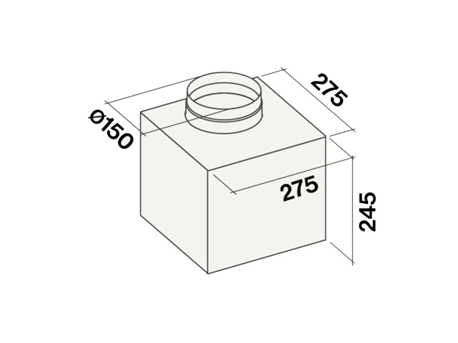 Falmec Downdraft 120 Tischhaube Weiß
