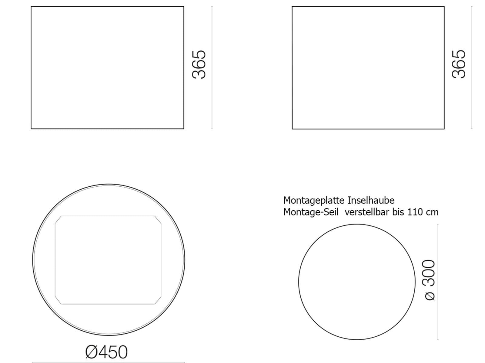 Falmec Eolo E.ion® Inselhaube 45 cm Weiß