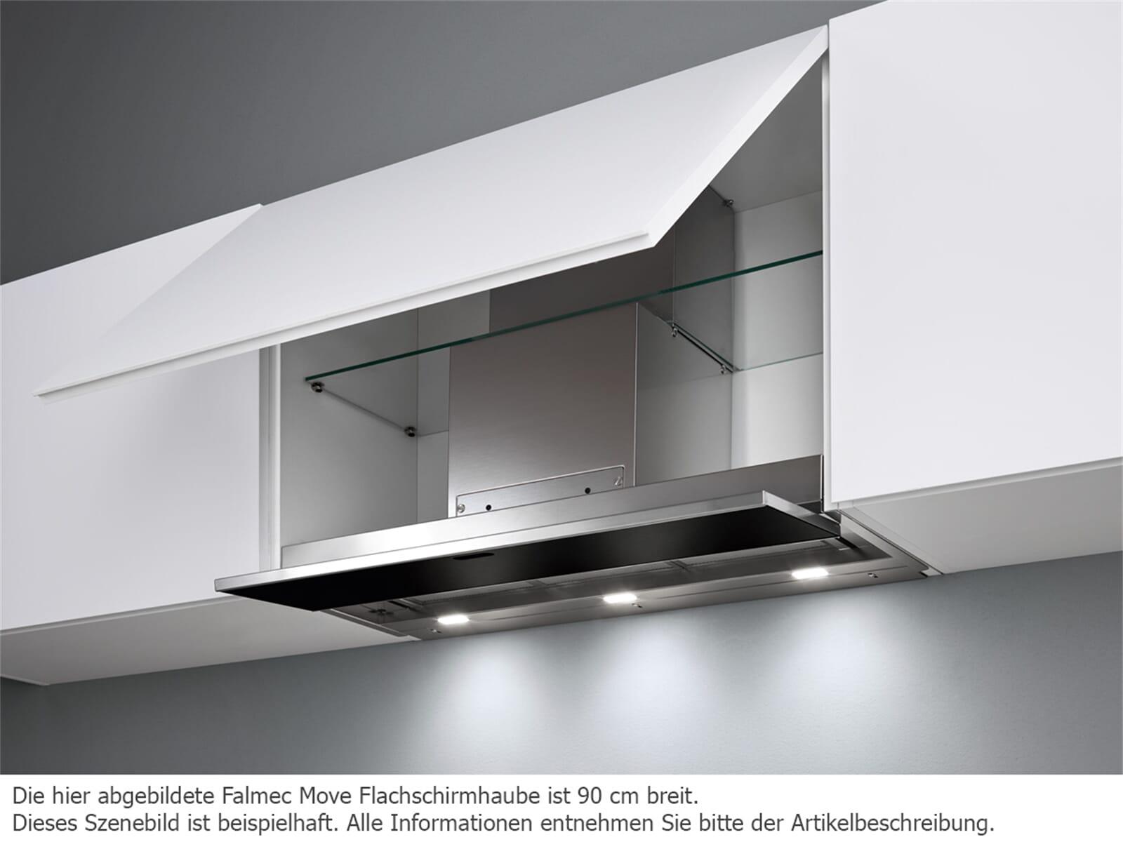 falmec move 60 schwarz flachschirmhaube edelstahl. Black Bedroom Furniture Sets. Home Design Ideas