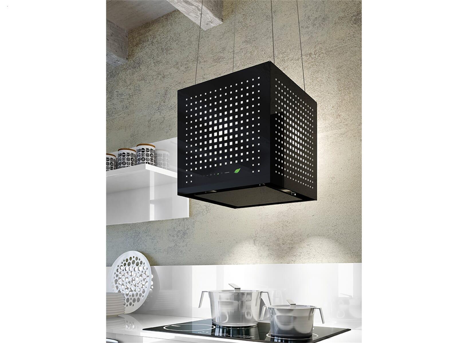 Falmec Rubik E.ion® Inselhaube 43 cm Schwarz