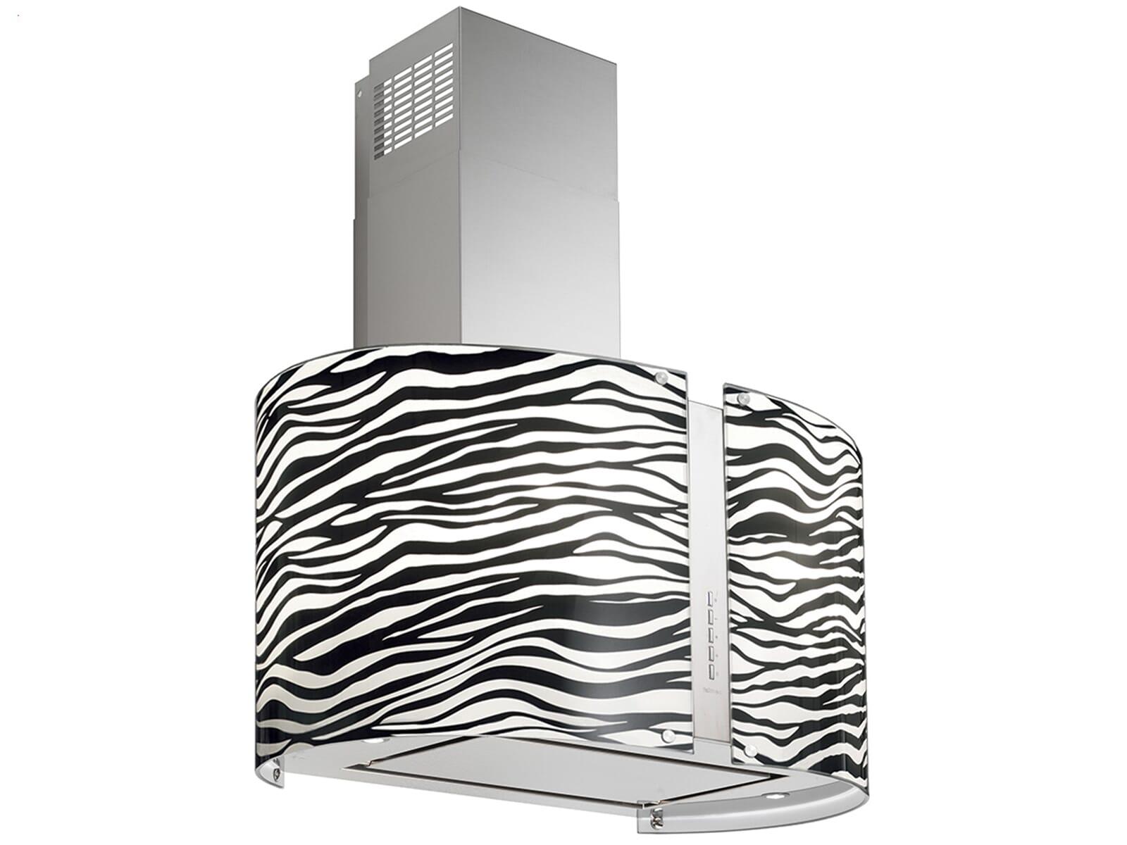Falmec Mirabilia Zebra Wandhaube Edelstahl ~ Entsafter Zebra