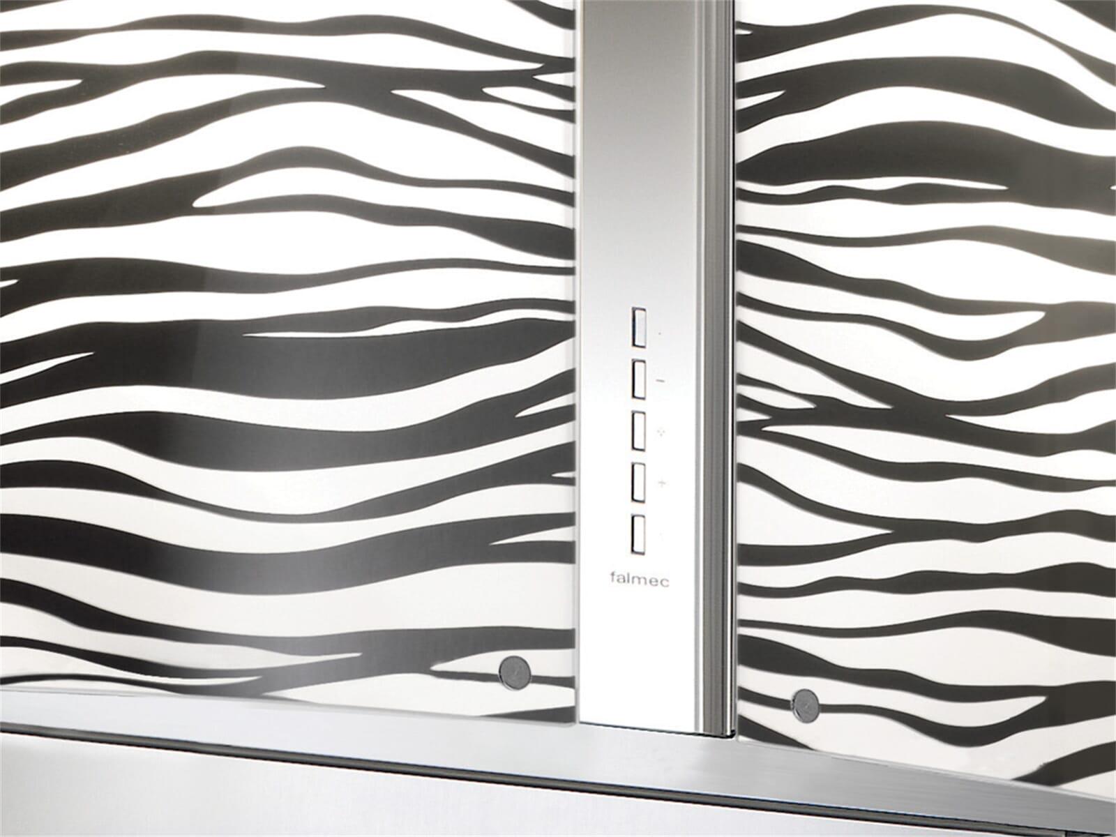 Falmec Mirabilia Zebra Inselhaube Edelstahl ~ Entsafter Zebra