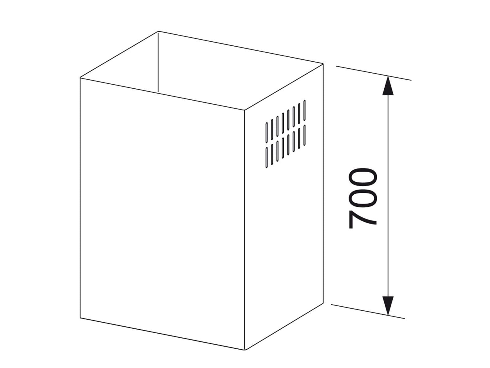 Franke CH 700 XS Schachtverlängerung Edelstahl