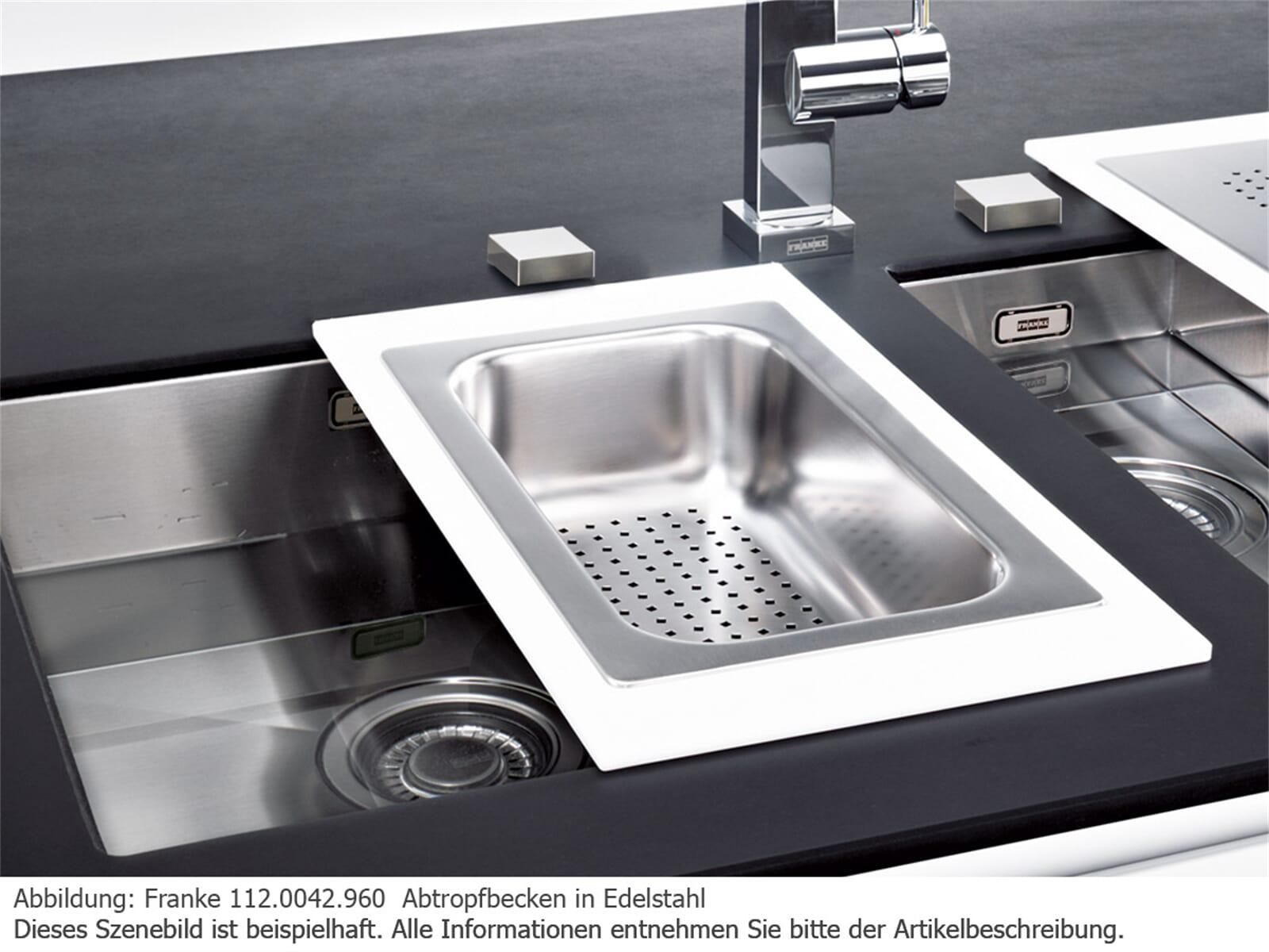 franke abtropfbecken edelstahl. Black Bedroom Furniture Sets. Home Design Ideas