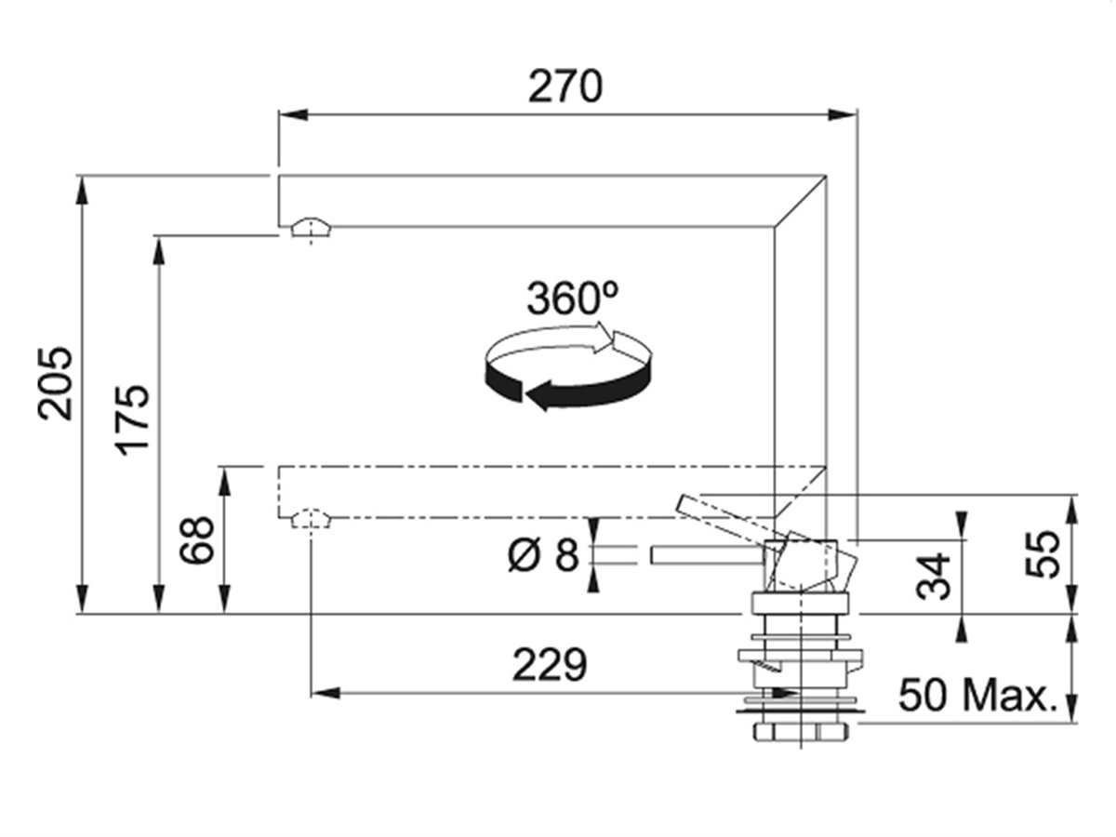 Franke Active Window Chrom - 115.0486.980 Hochdruckarmatur