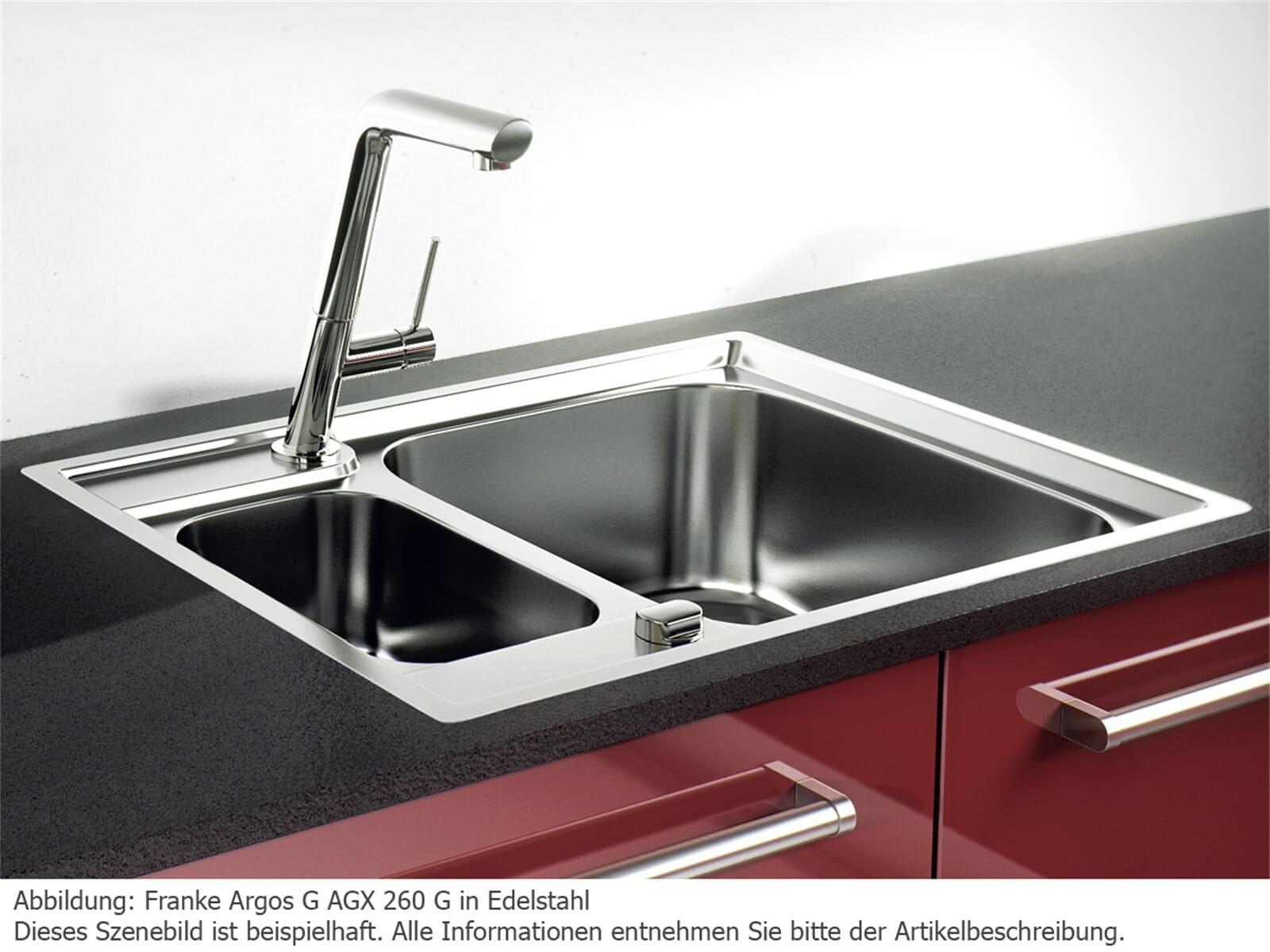 Franke Argos G AGX 260 G Edelstahlspüle glatt - 127.0380.393
