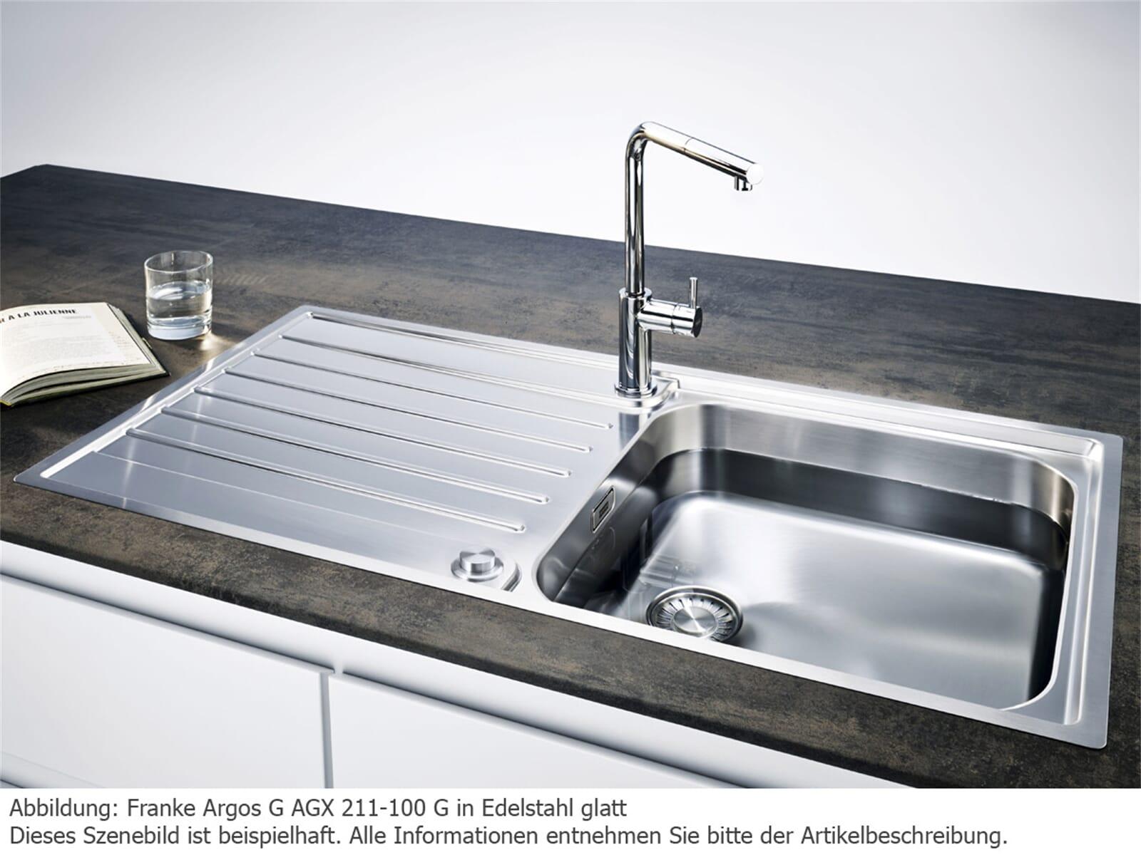 Franke Argos G AGX 211-100 G Edelstahlspüle glatt - 127.0380.396