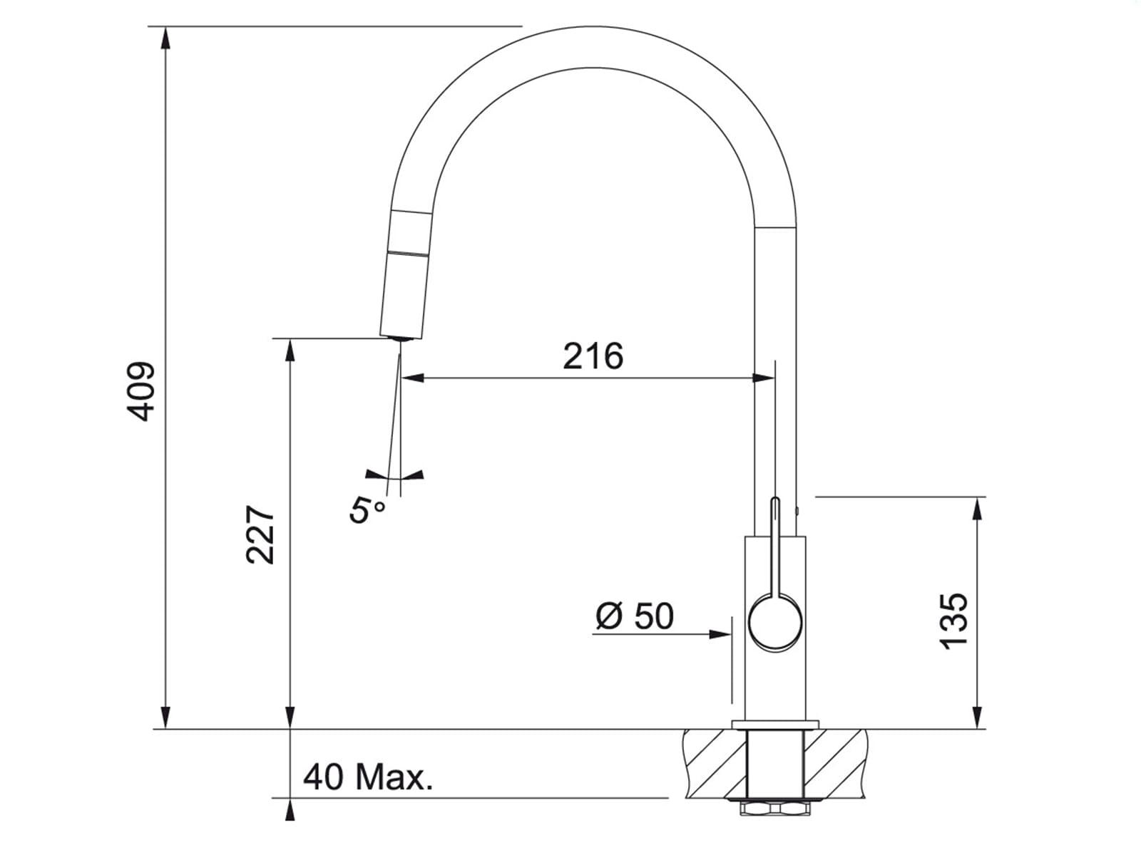 Franke Ambient Chrom/Weiß Hochdruckarmatur