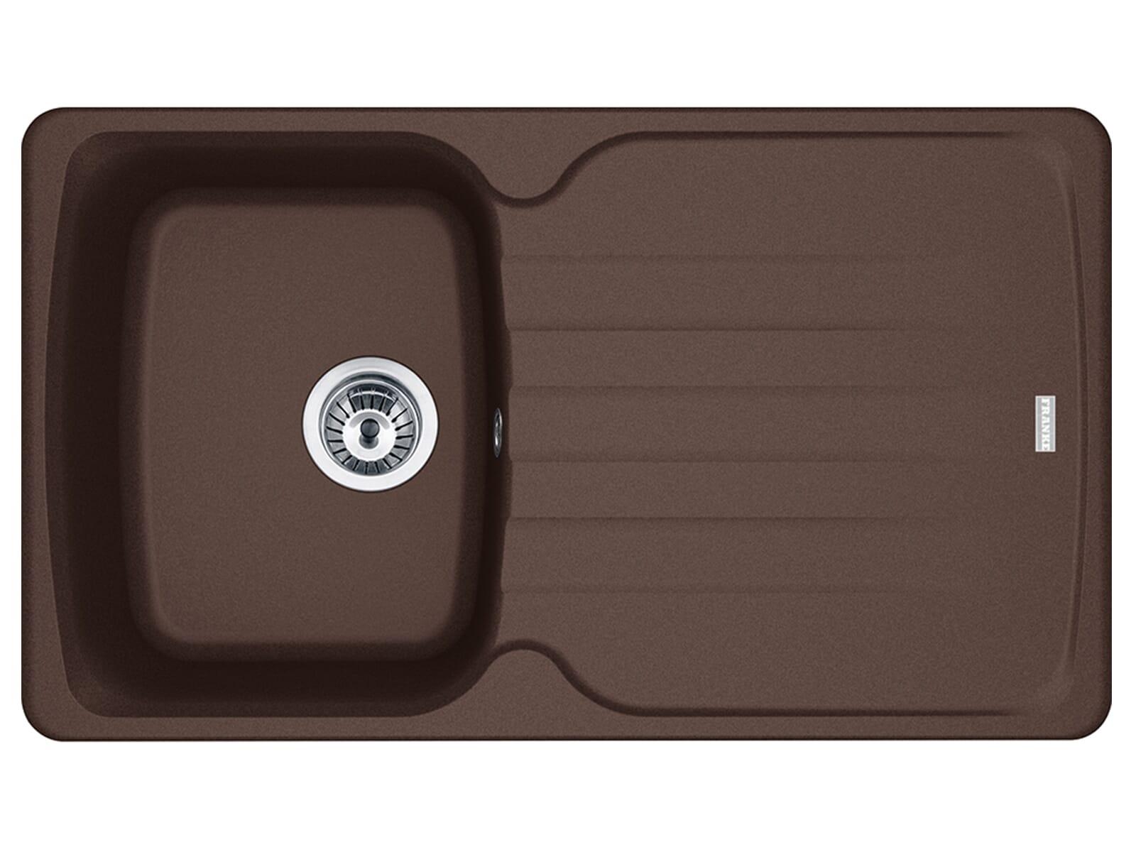 Franke Antea AZG 611 Chocolate - 114.0477.975 Granitspüle Exzenterbetätigung