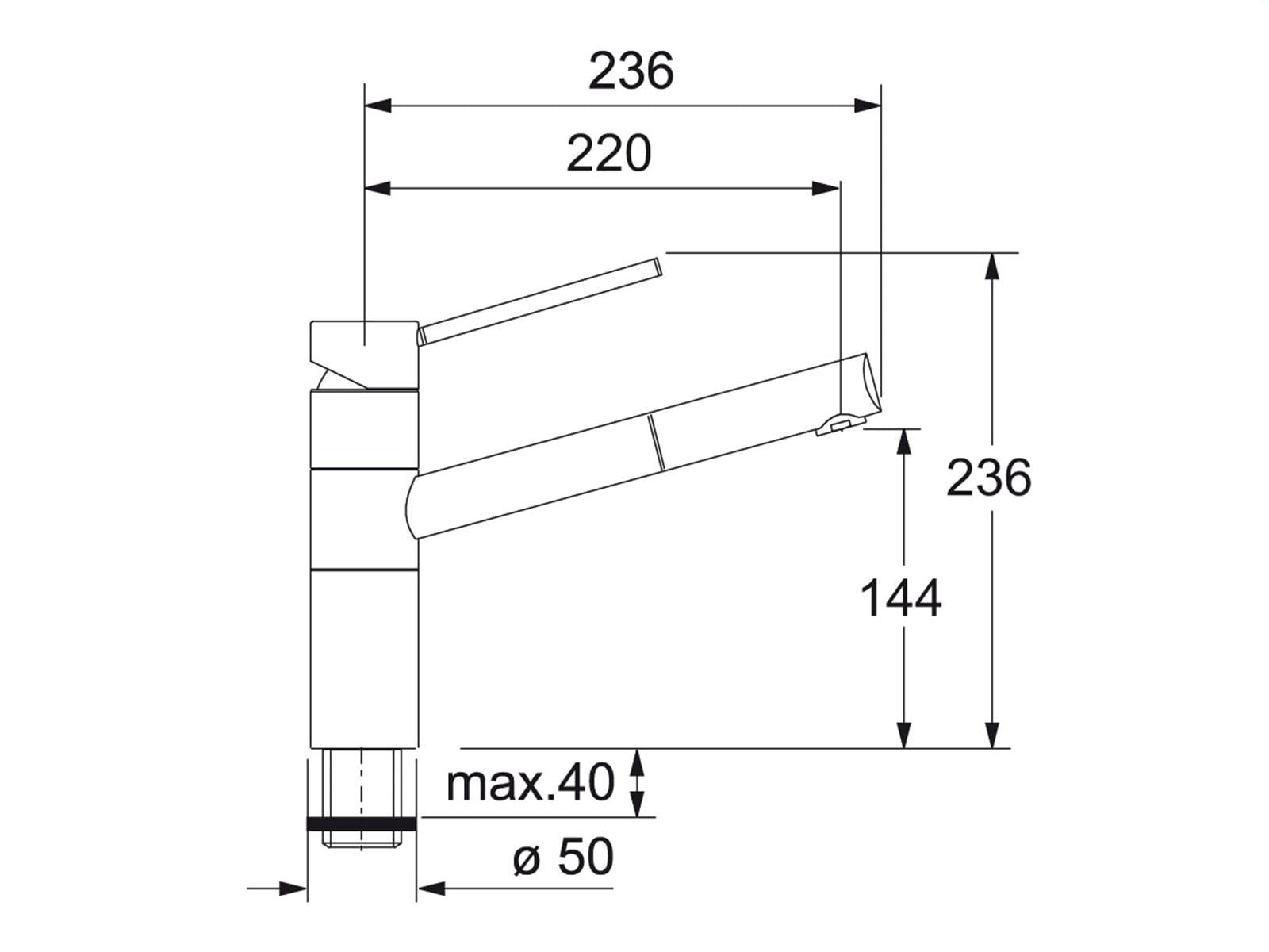 Franke 350 Onyx Hochdruckarmatur
