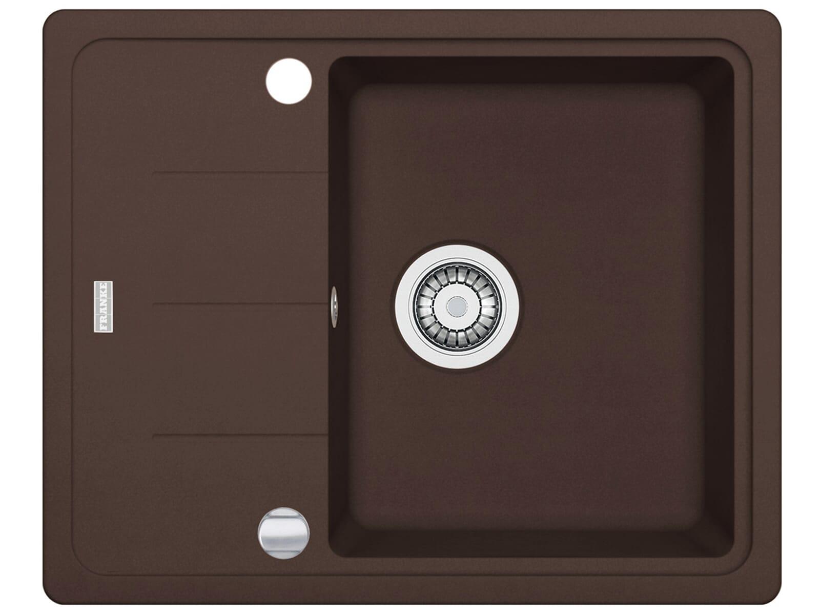 Draufsicht von Franke Basis BFG 611-62 Chocolate Granit-Spüle