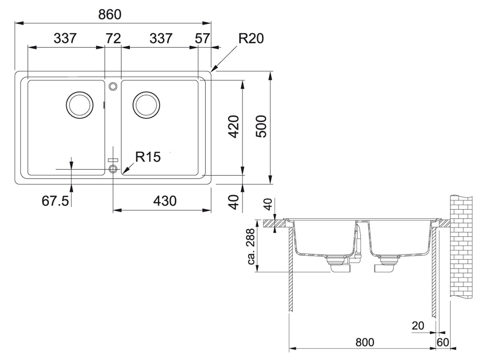 Franke Basis BFG 620 Steingrau Granitspüle