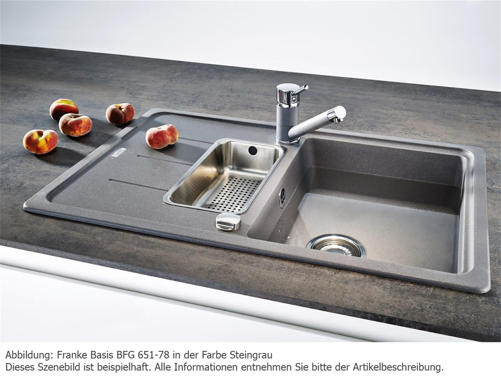Franke Basis BFG 651-78 Steingrau Granitspüle