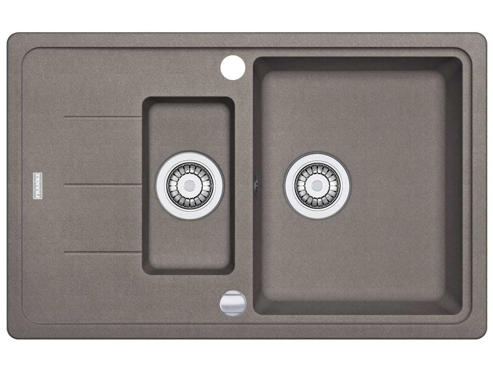 Draufsicht von Franke Basis BFG 651-78 Cashmere Granit-Spüle