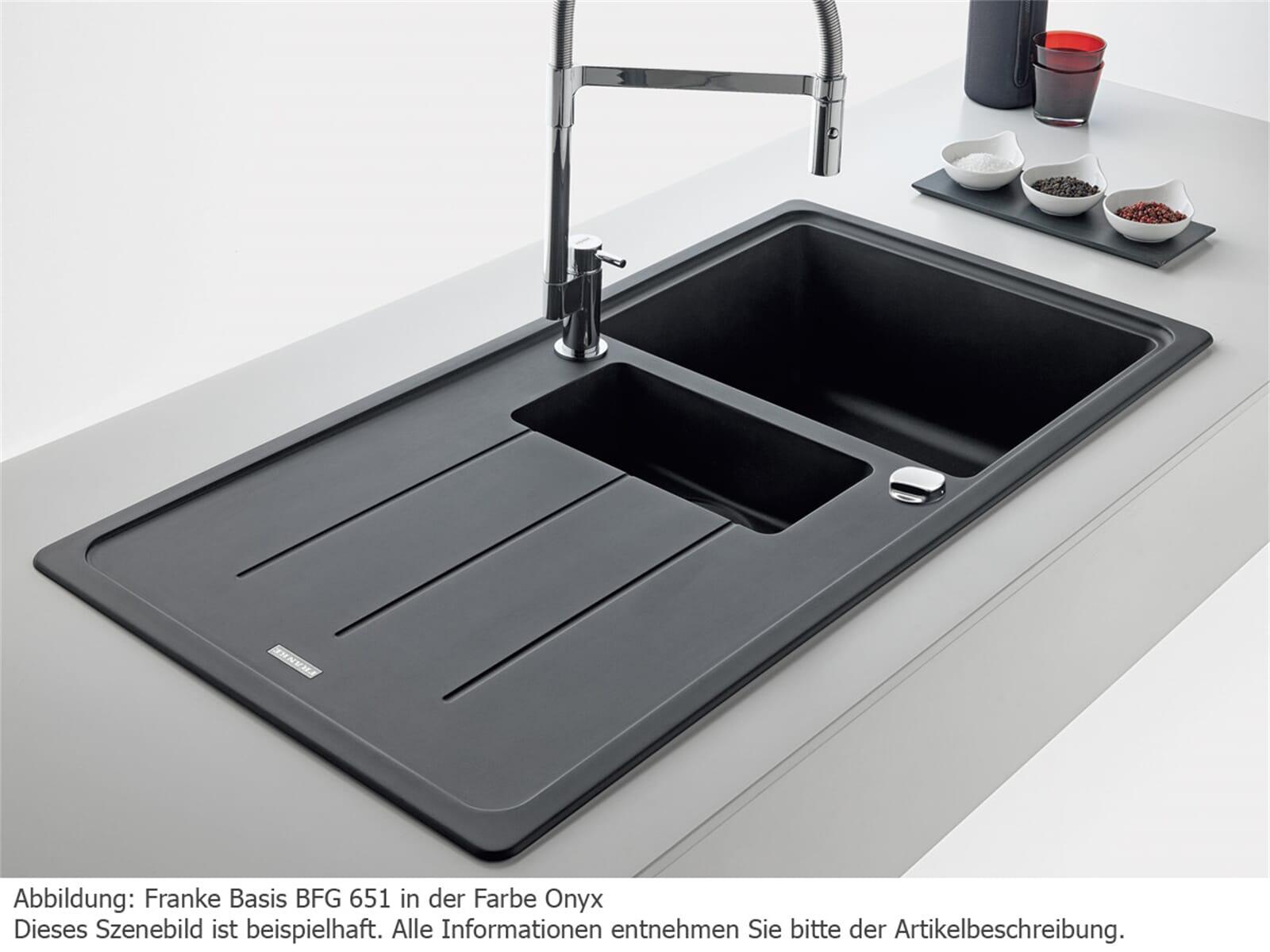 franke basis bfg 651 onyx granitsp le. Black Bedroom Furniture Sets. Home Design Ideas